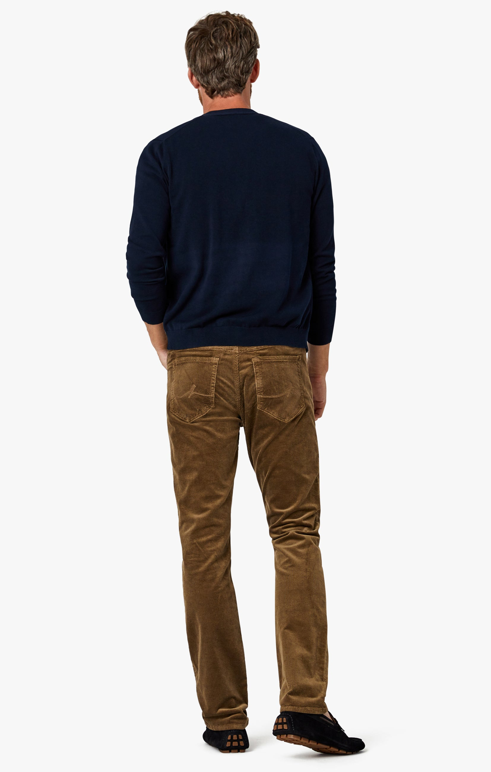 Charisma Relaxed Straight Pants in Tobacco Cord Image 9