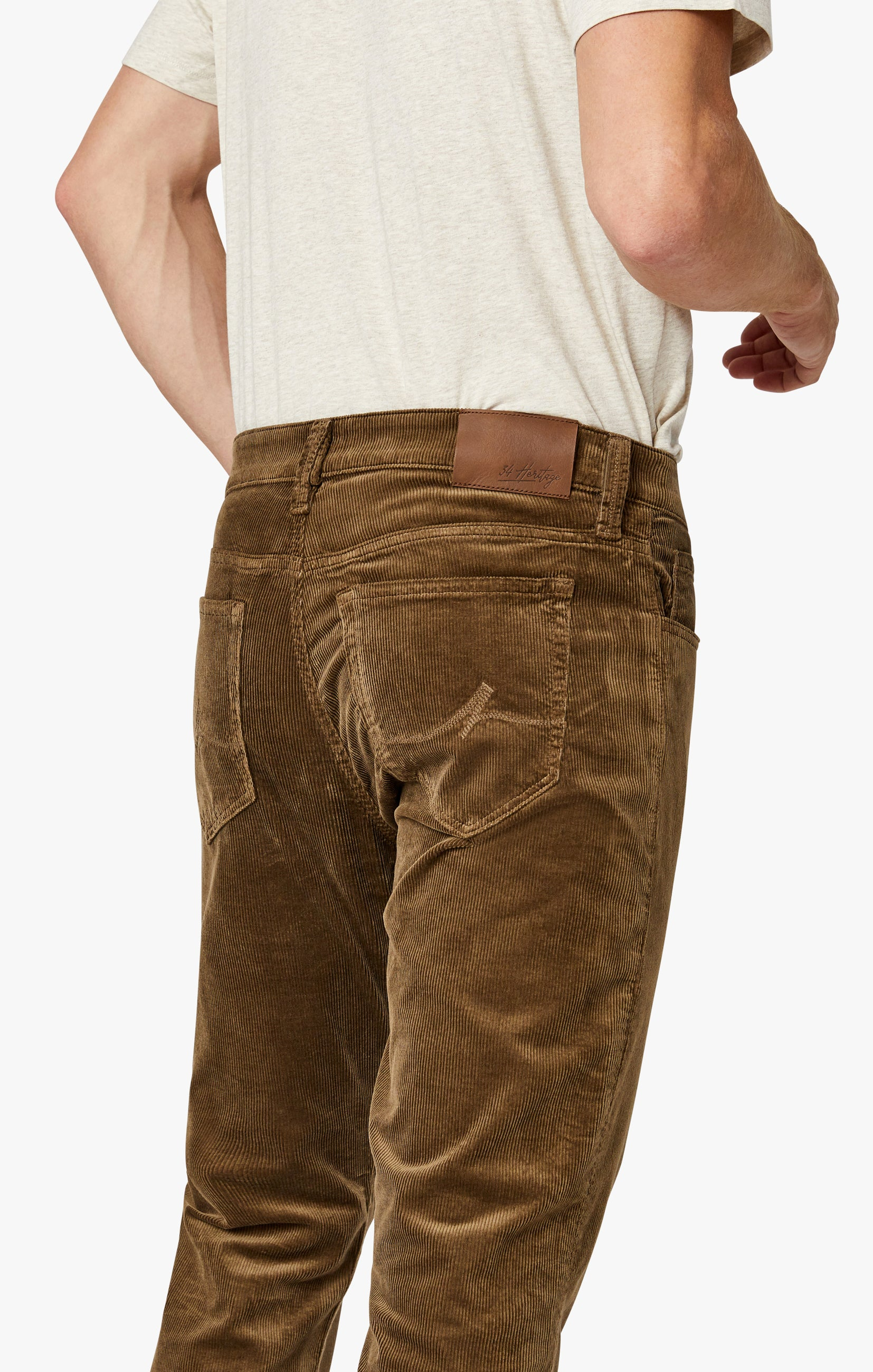 Charisma Relaxed Straight Pants in Tobacco Cord Image 7