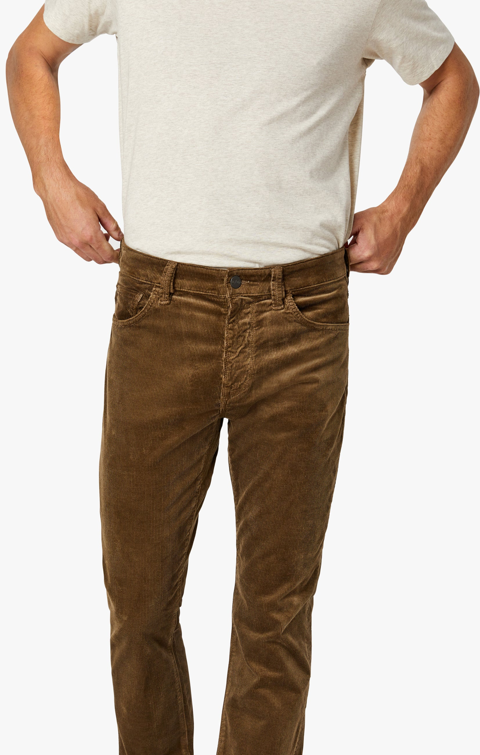 Charisma Relaxed Straight Pants in Tobacco Cord Image 6