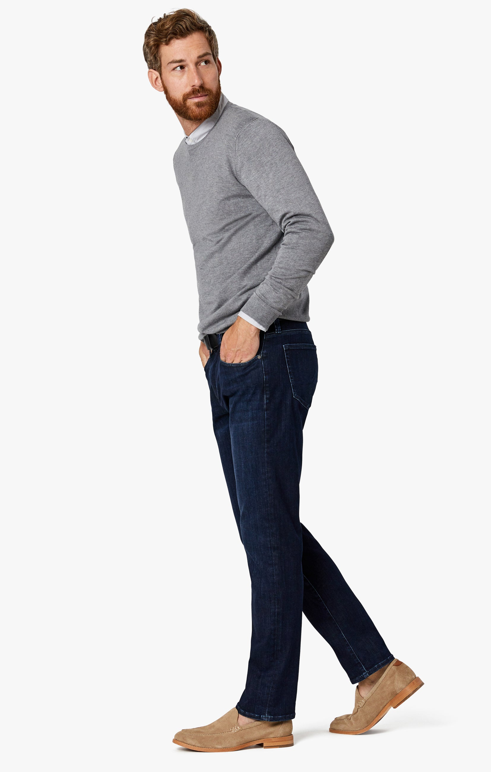 Charisma Relaxed Straight Jeans in Deep Urban Image 3
