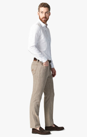 Charisma Relaxed Straight Pants in Camel Cross Twill