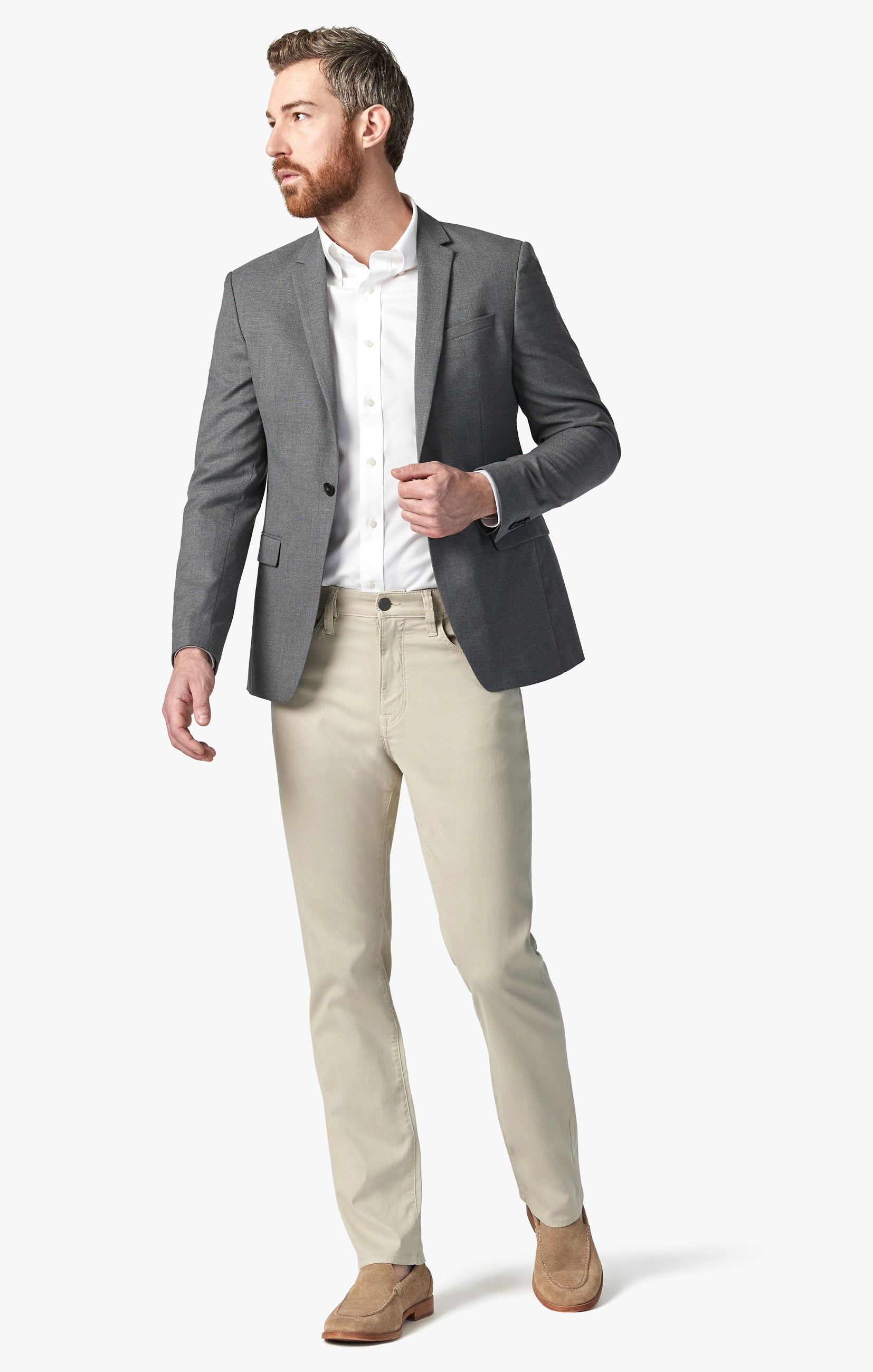 Charisma Relaxed Straight Pants in Stone Fine Touch Image 1