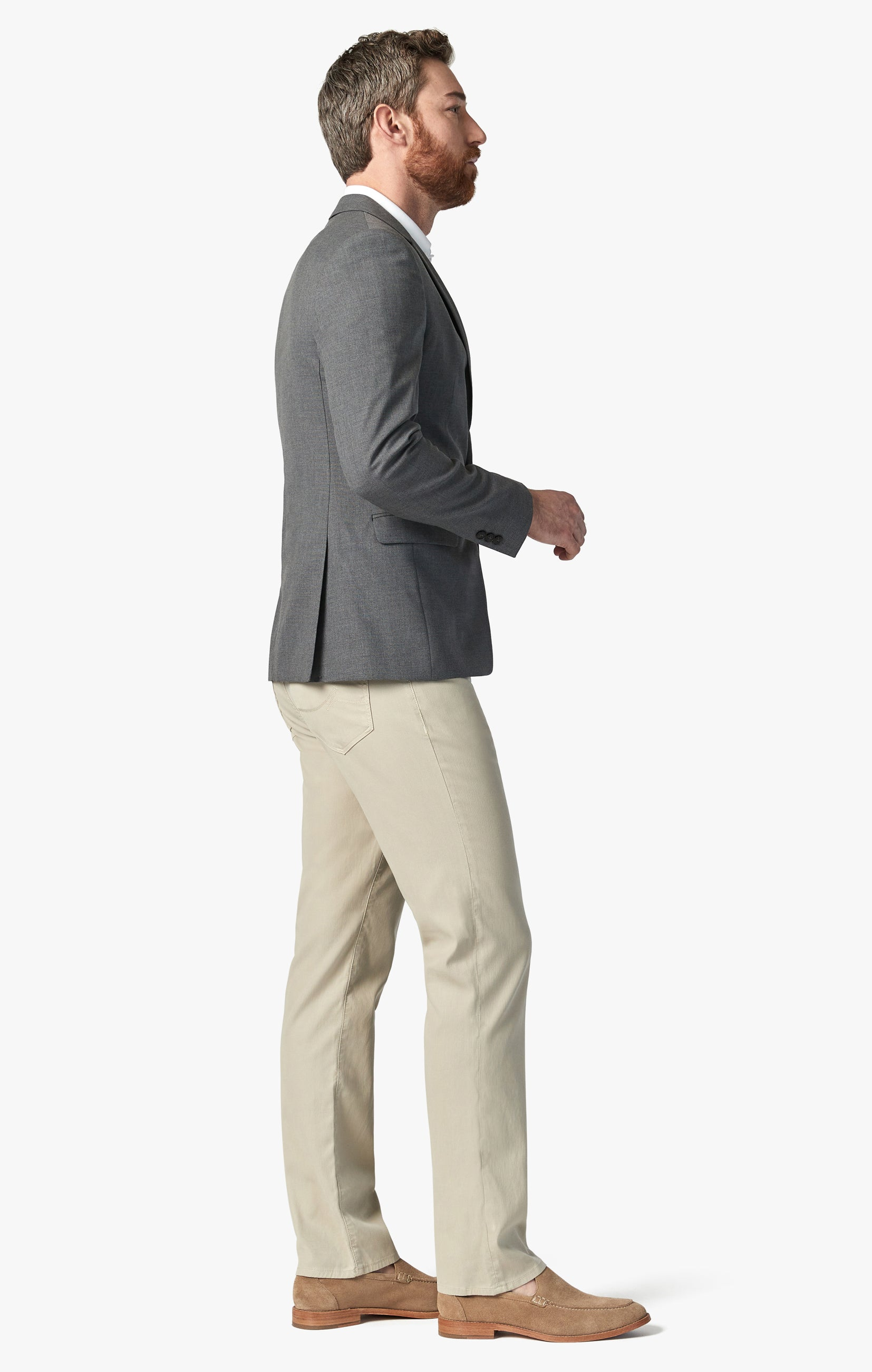 Charisma Relaxed Straight Pants in Stone Fine Touch Image 2
