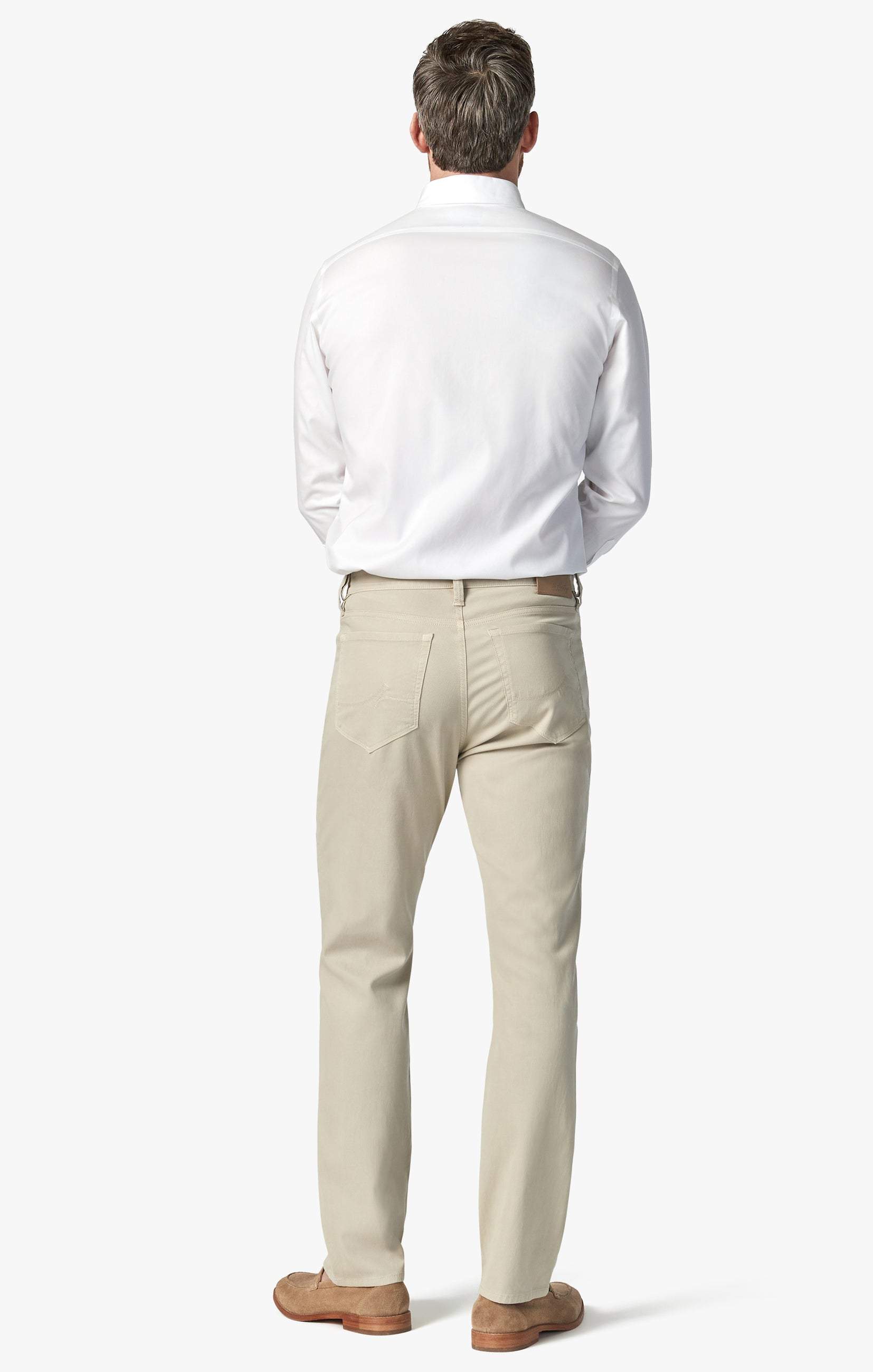 Charisma Relaxed Straight Pants in Stone Fine Touch Image 3