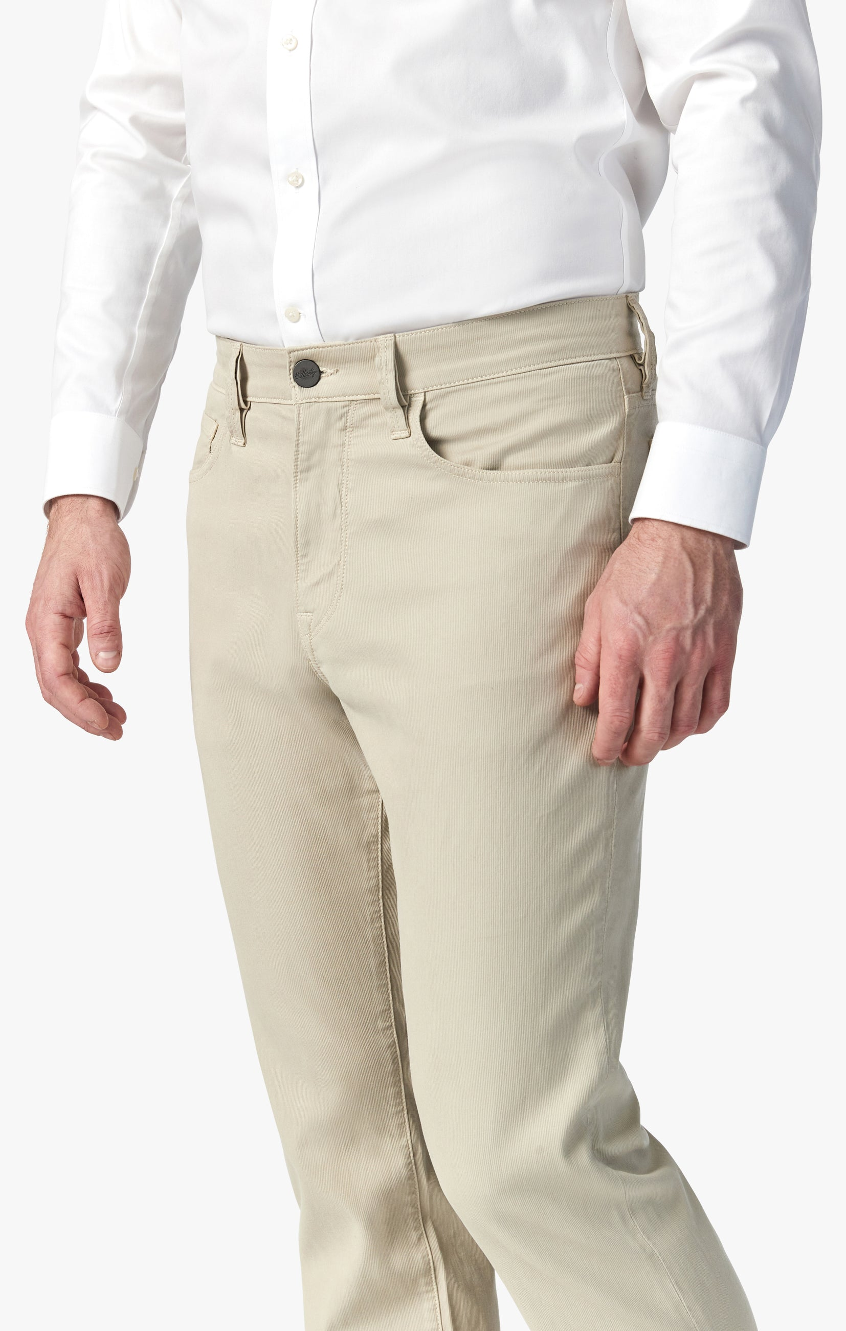 Charisma Relaxed Straight Pants in Stone Fine Touch Image 4