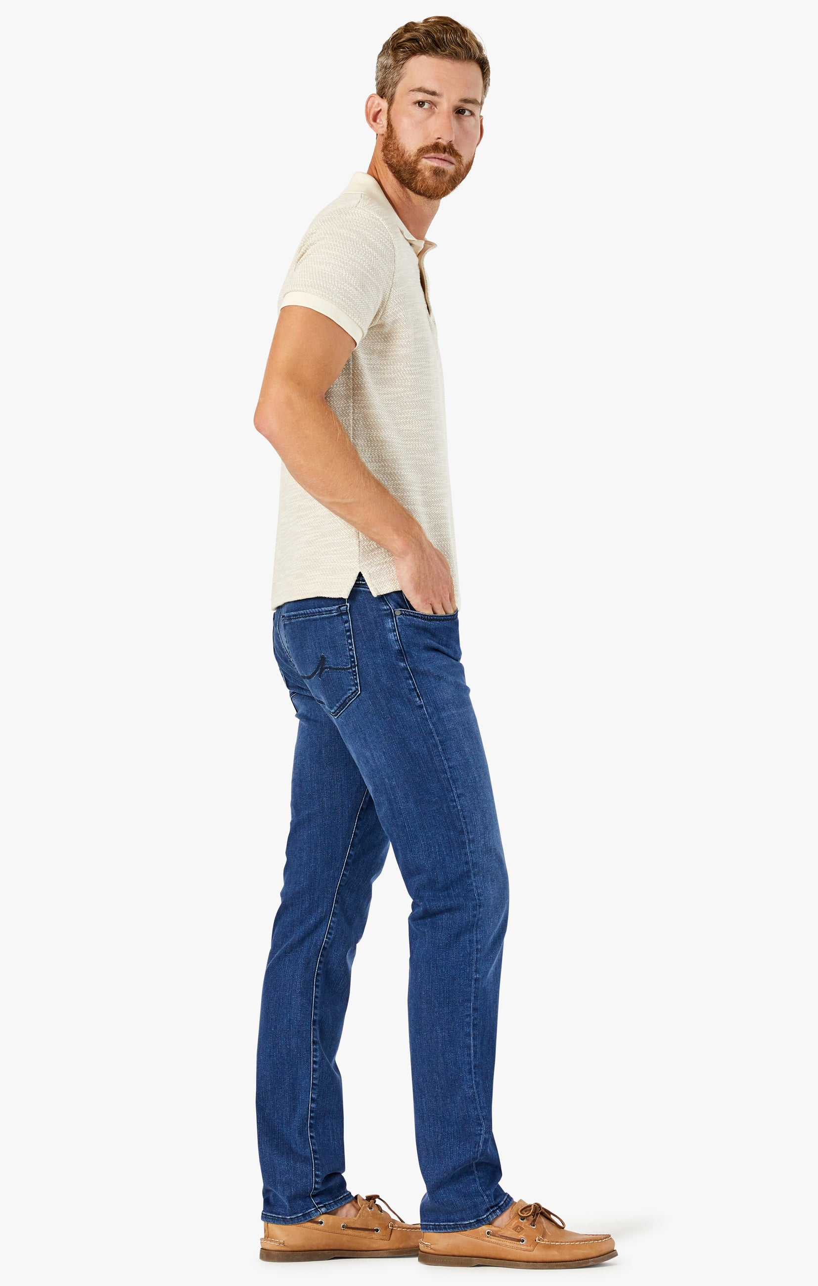 Charisma Relaxed Straight Jeans In Dark Indigo Ultra Image 2