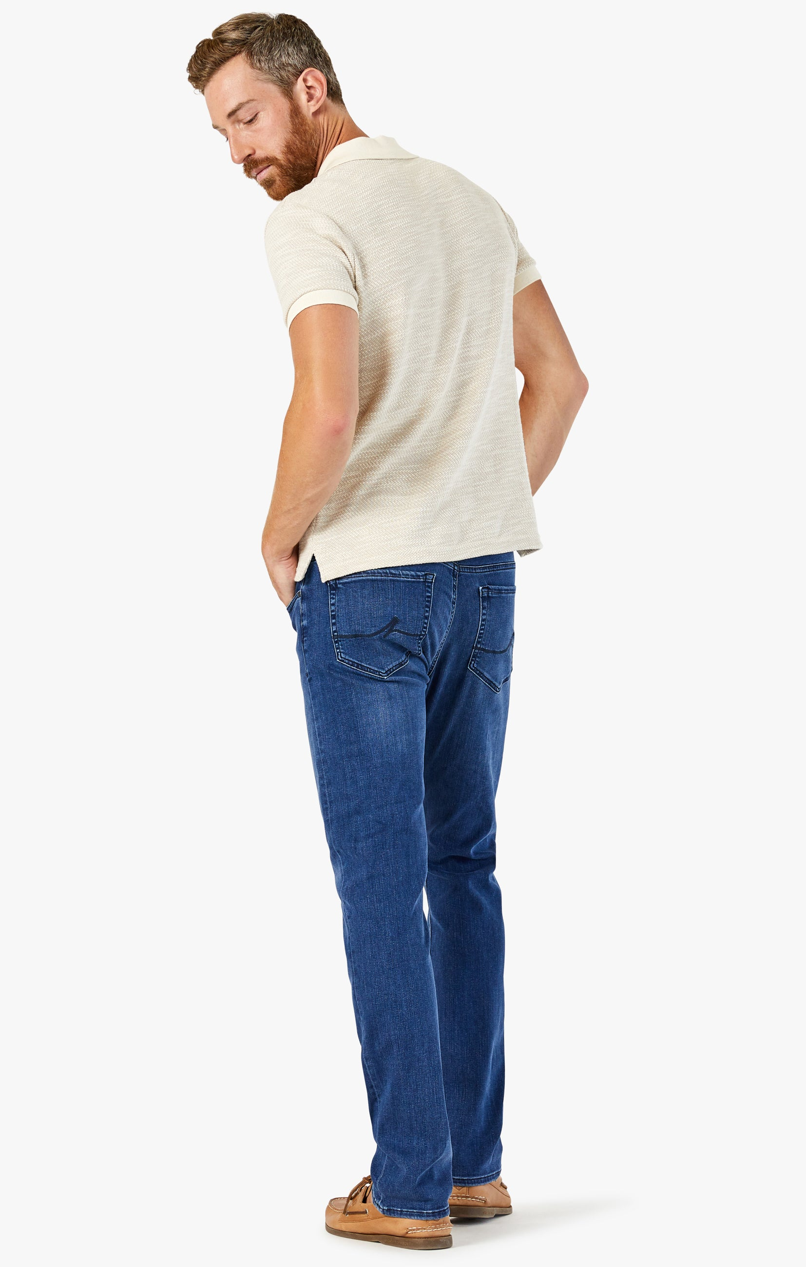 Charisma Relaxed Straight Jeans In Dark Indigo Ultra Image 3
