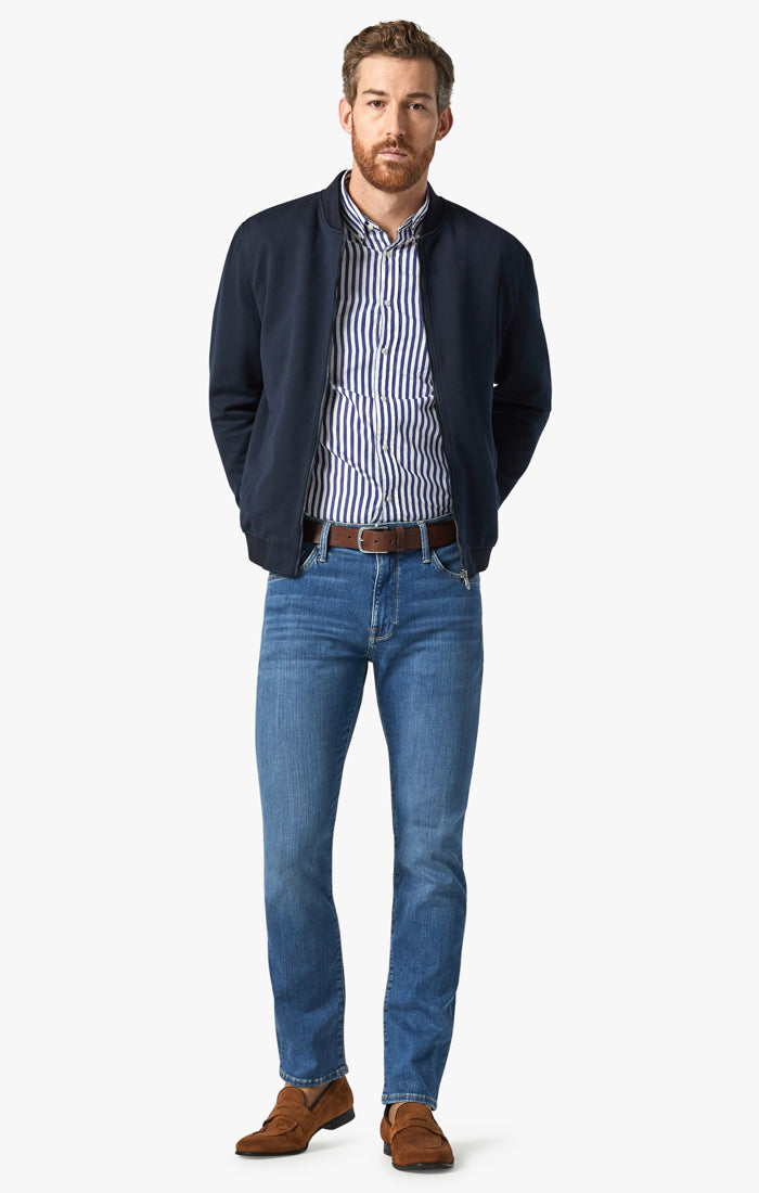 Charisma Relaxed Straight Jeans In Mid Soft Image 1