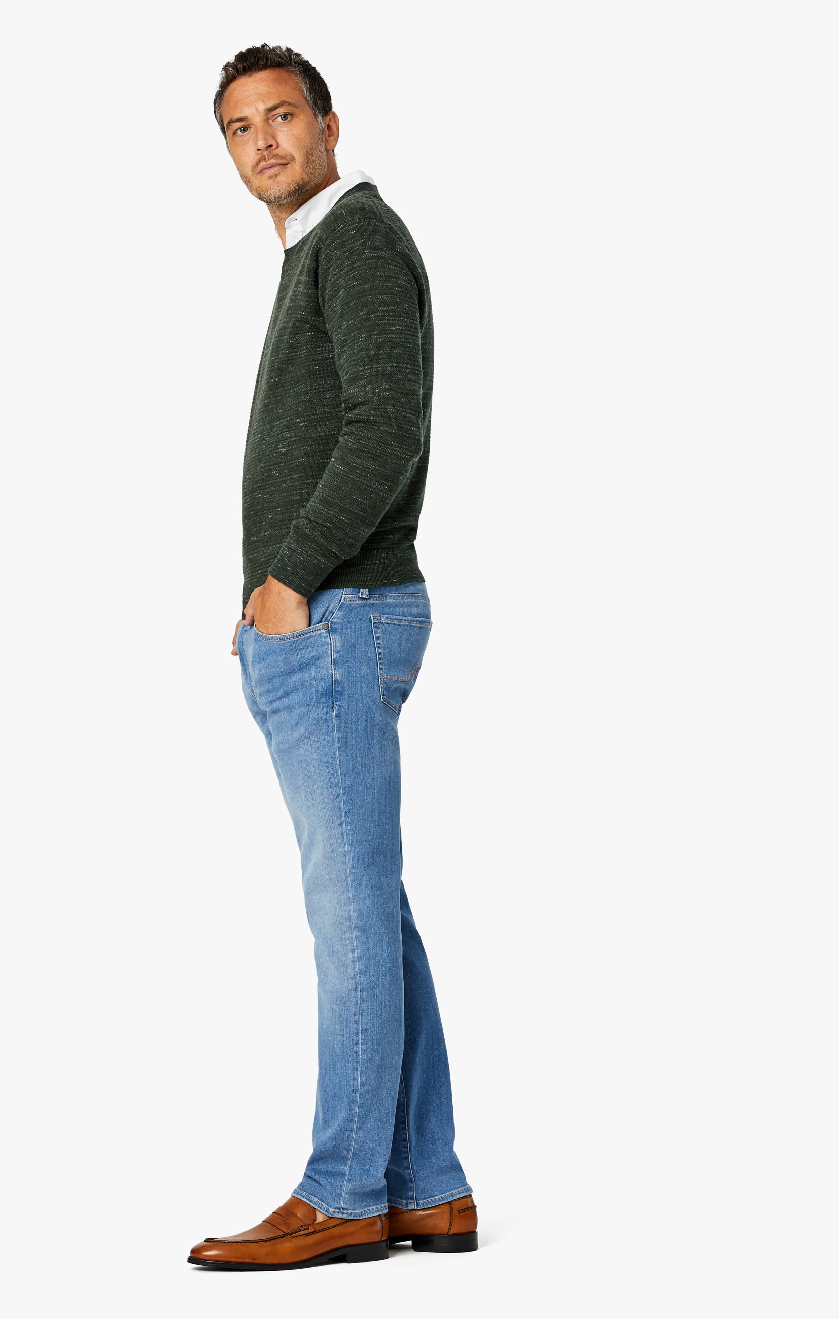 Charisma Relaxed Straight Jeans In Light Shaded Ultra Image 2