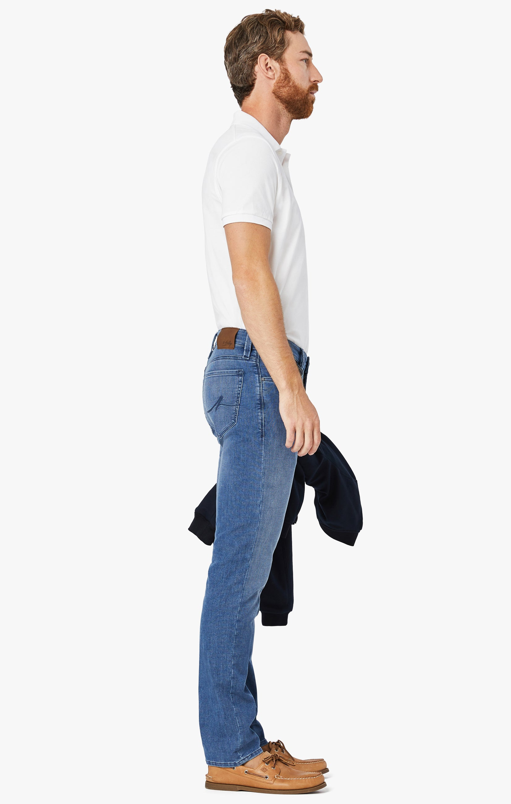 Courage Straight Leg Jeans In Light Indigo Sporty Image 3