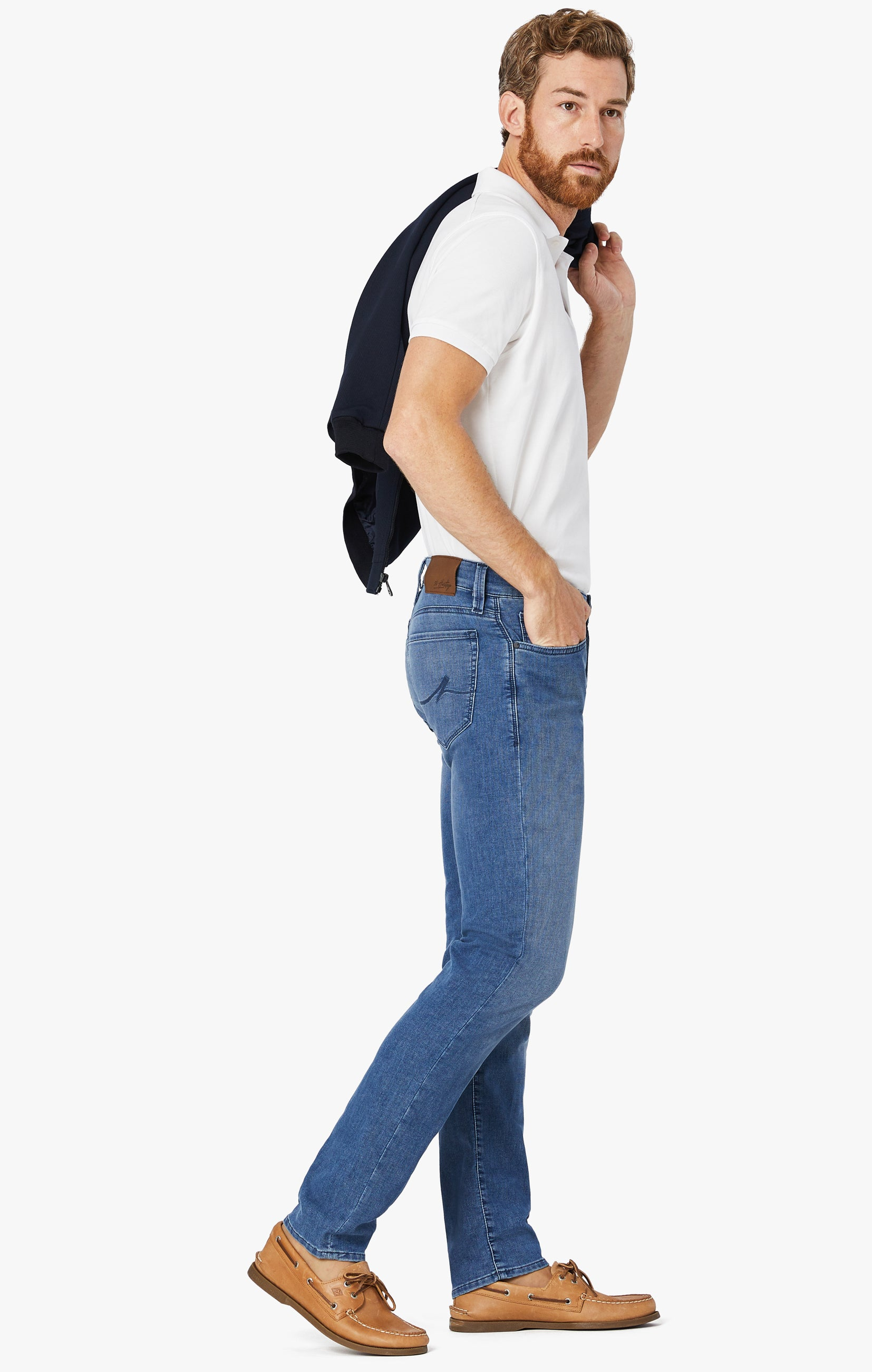 Courage Straight Leg Jeans In Light Indigo Sporty Image 1