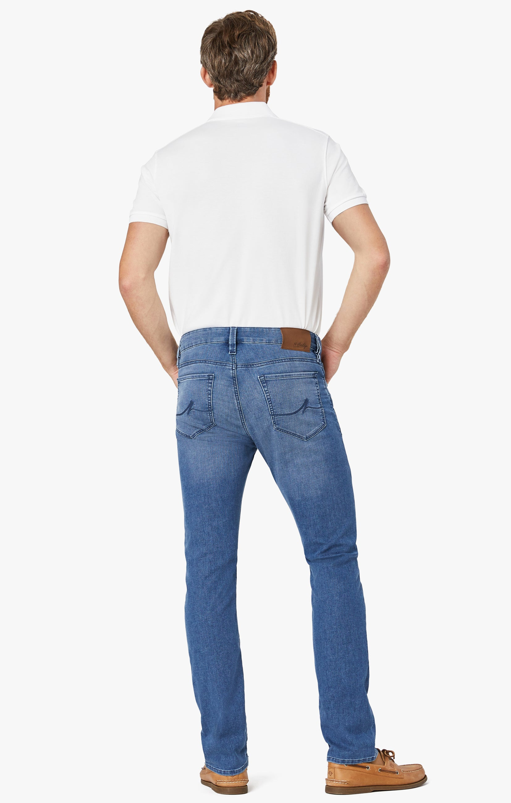 Courage Straight Leg Jeans In Light Indigo Sporty Image 4