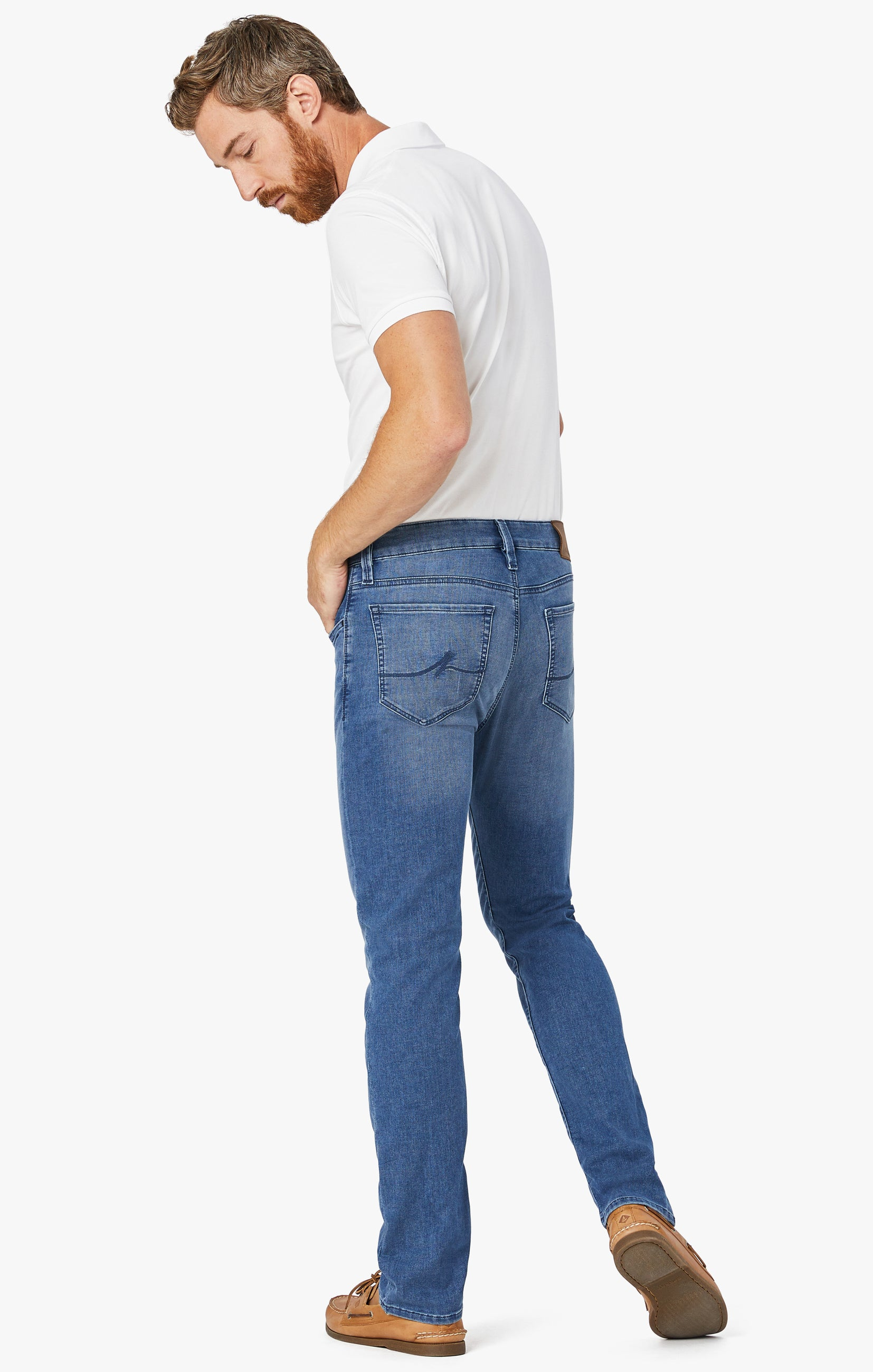 Courage Straight Leg Jeans In Light Indigo Sporty Image 5