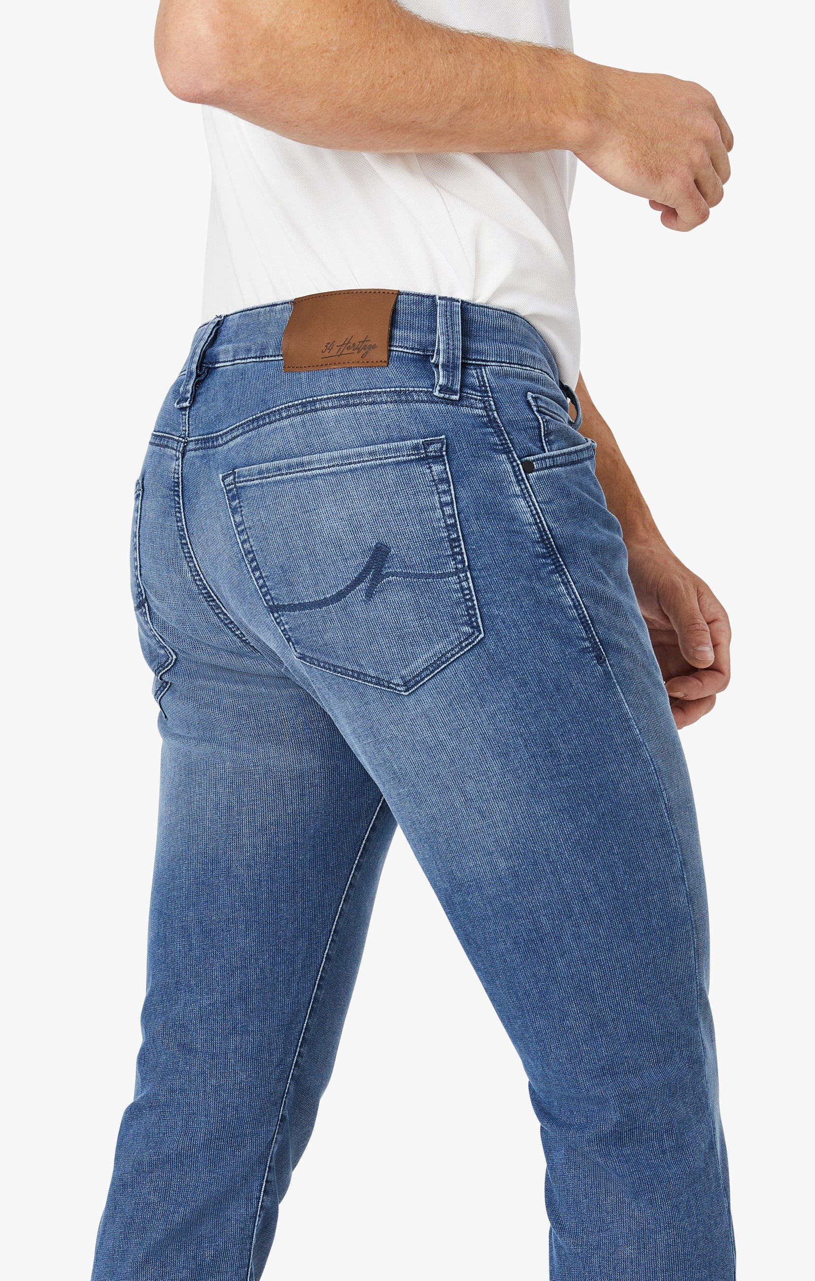 Courage Straight Leg Jeans In Light Indigo Sporty Image 6