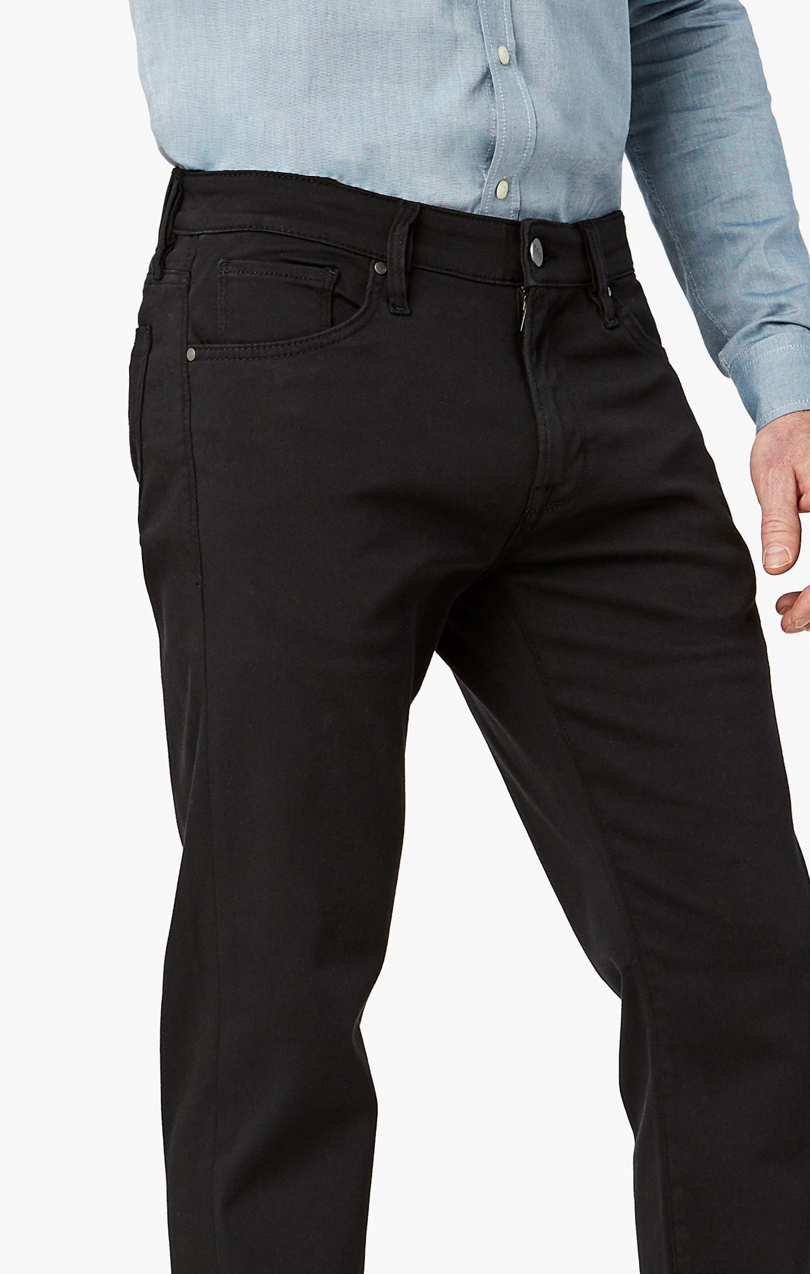 Courage Straight Leg Pants In Select Double Black Image 6