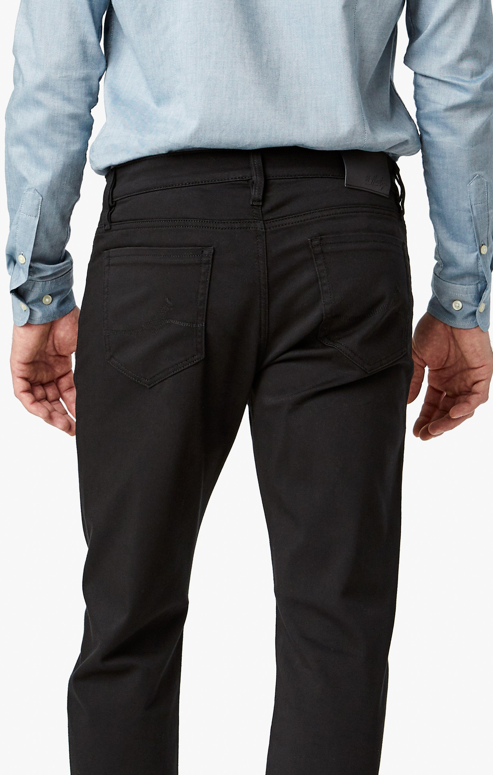 Courage Straight Leg Pants In Select Double Black Image 7