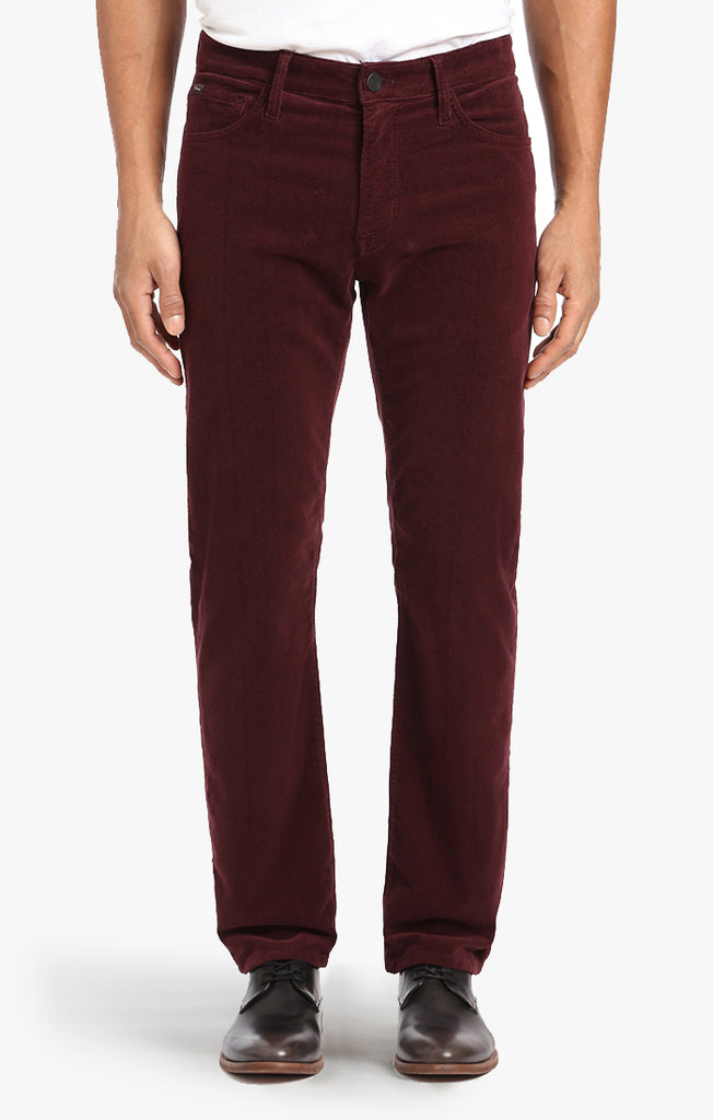 Courage Straight Leg In Burgundy Cord