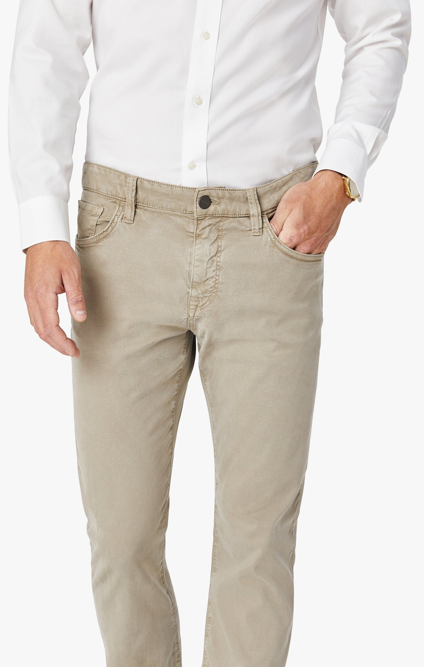 Courage Straight Leg Pants In Mushroom Soft Touch Image 8