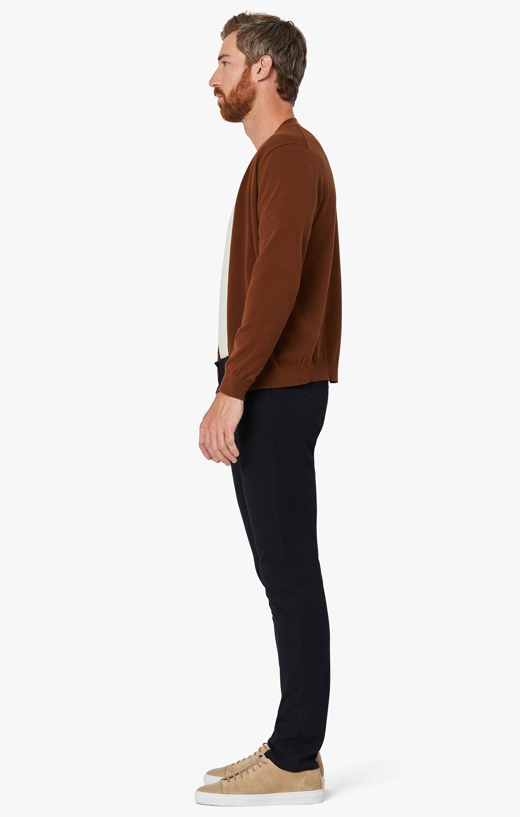 Courage Straight Leg Pants in Navy Winter Cashmere Image 9