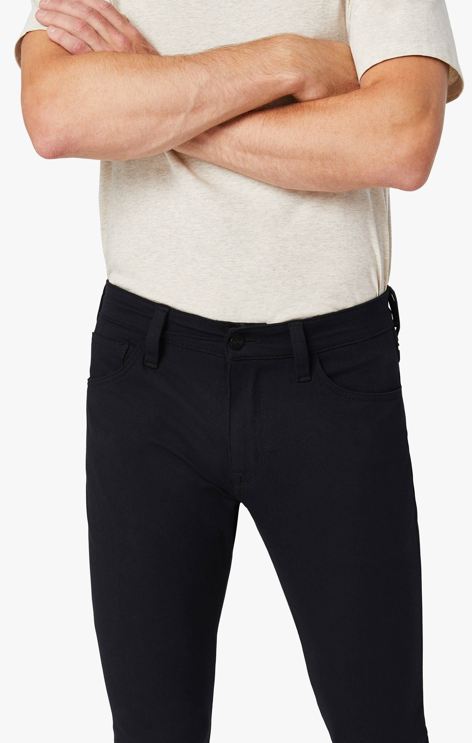 Courage Straight Leg Pants in Navy Winter Cashmere Image 2