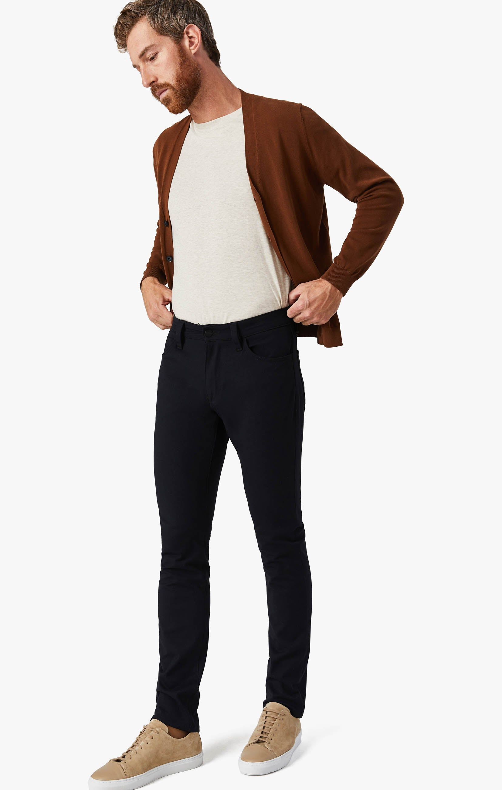 Courage Straight Leg Pants in Navy Winter Cashmere Image 6
