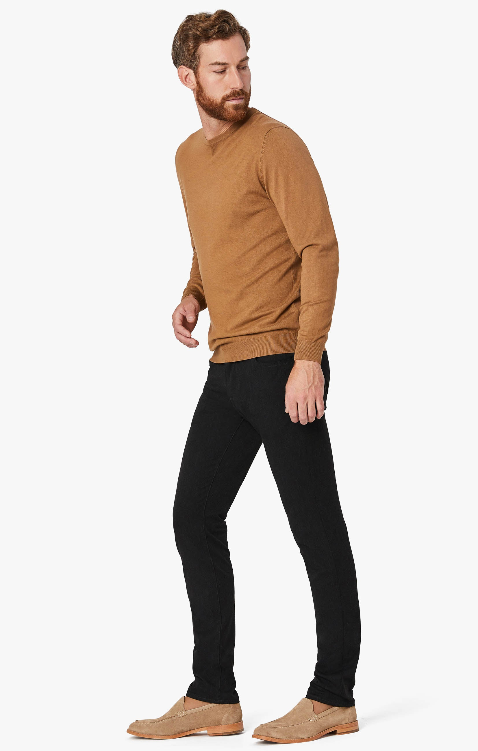Courage Straight Leg Pants in Charcoal Winter Cashmere Image 4
