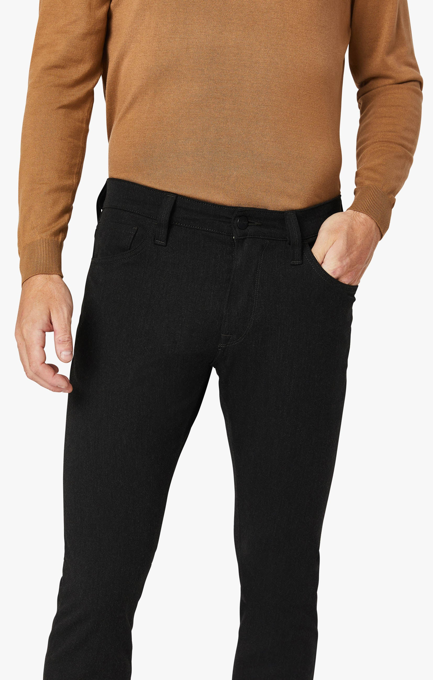 Courage Straight Leg Pants in Charcoal Winter Cashmere Image 2