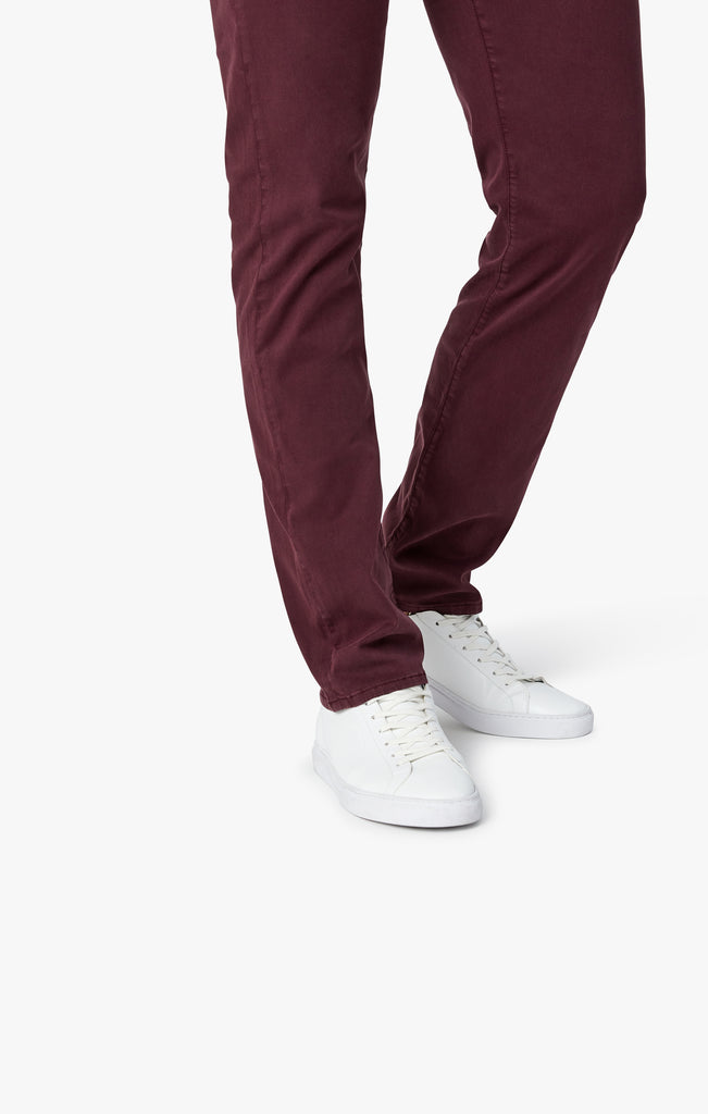 Courage Straight Leg in Burgundy Twill