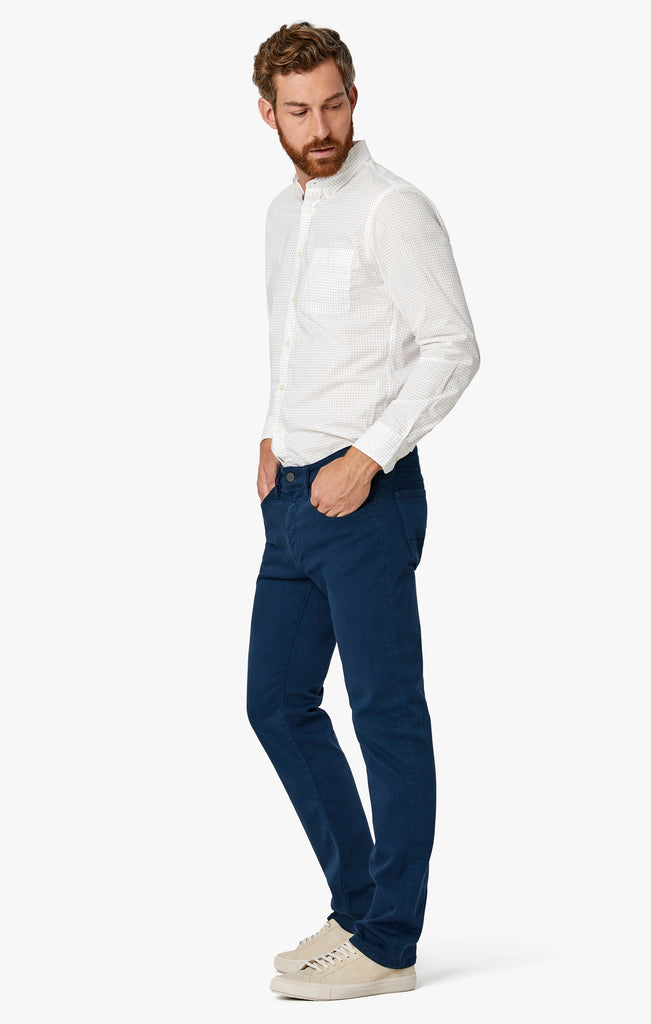 Courage Straight Leg Pants In Petrol Comfort