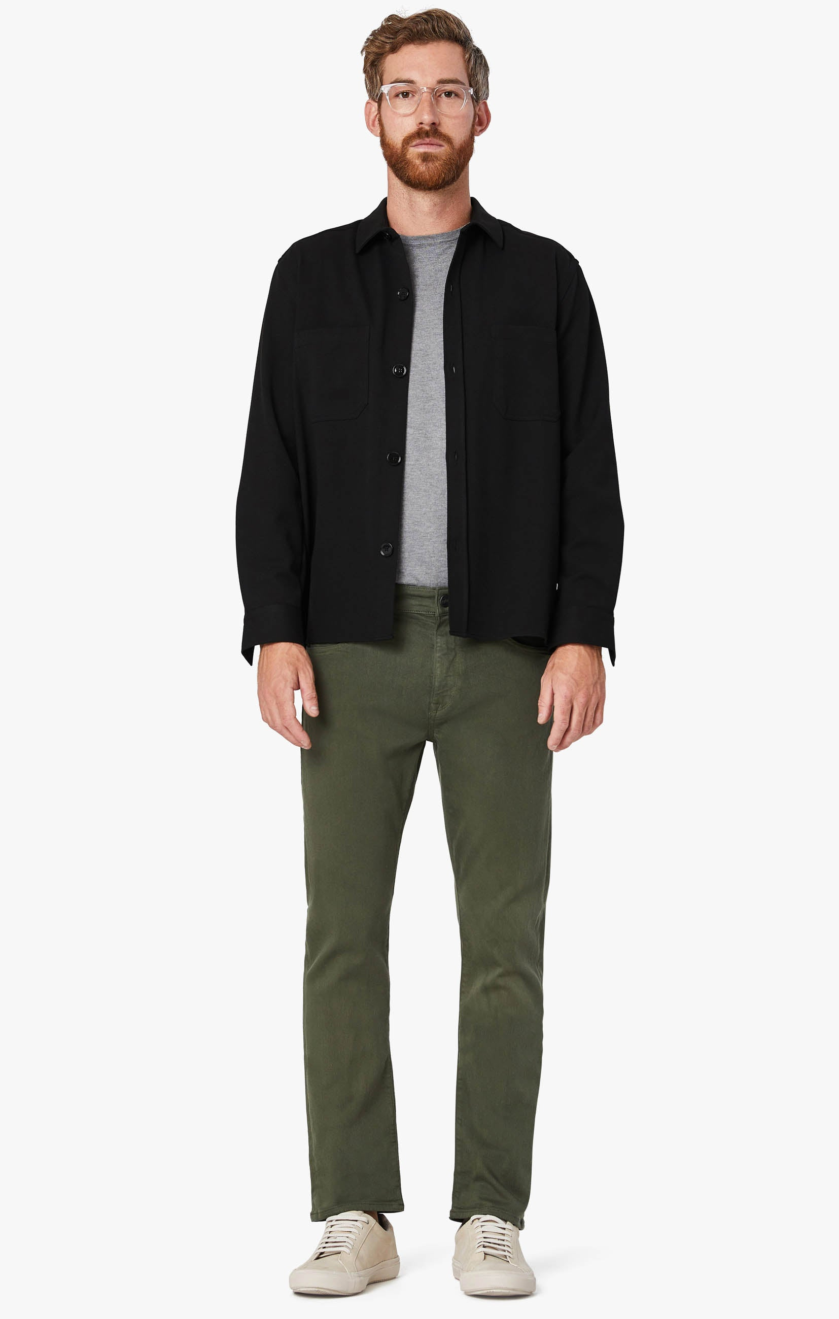 Courage Straight Leg Pants In Military Green Comfort Image 6