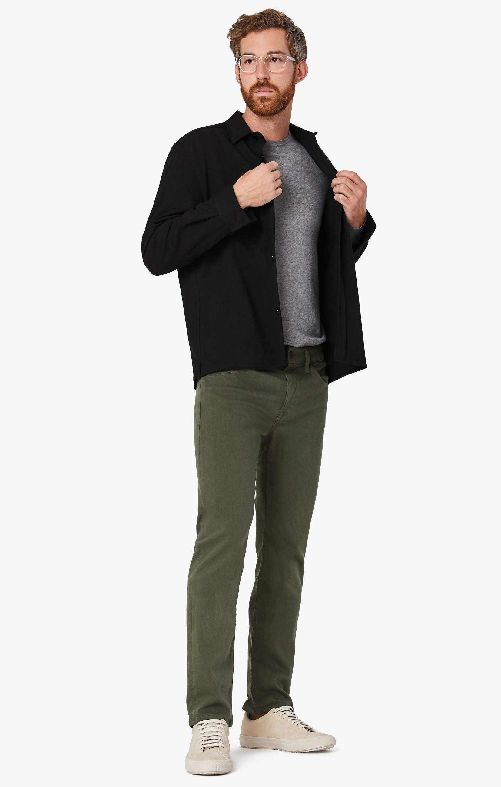 Courage Straight Leg Pants In Military Green Comfort Image 7