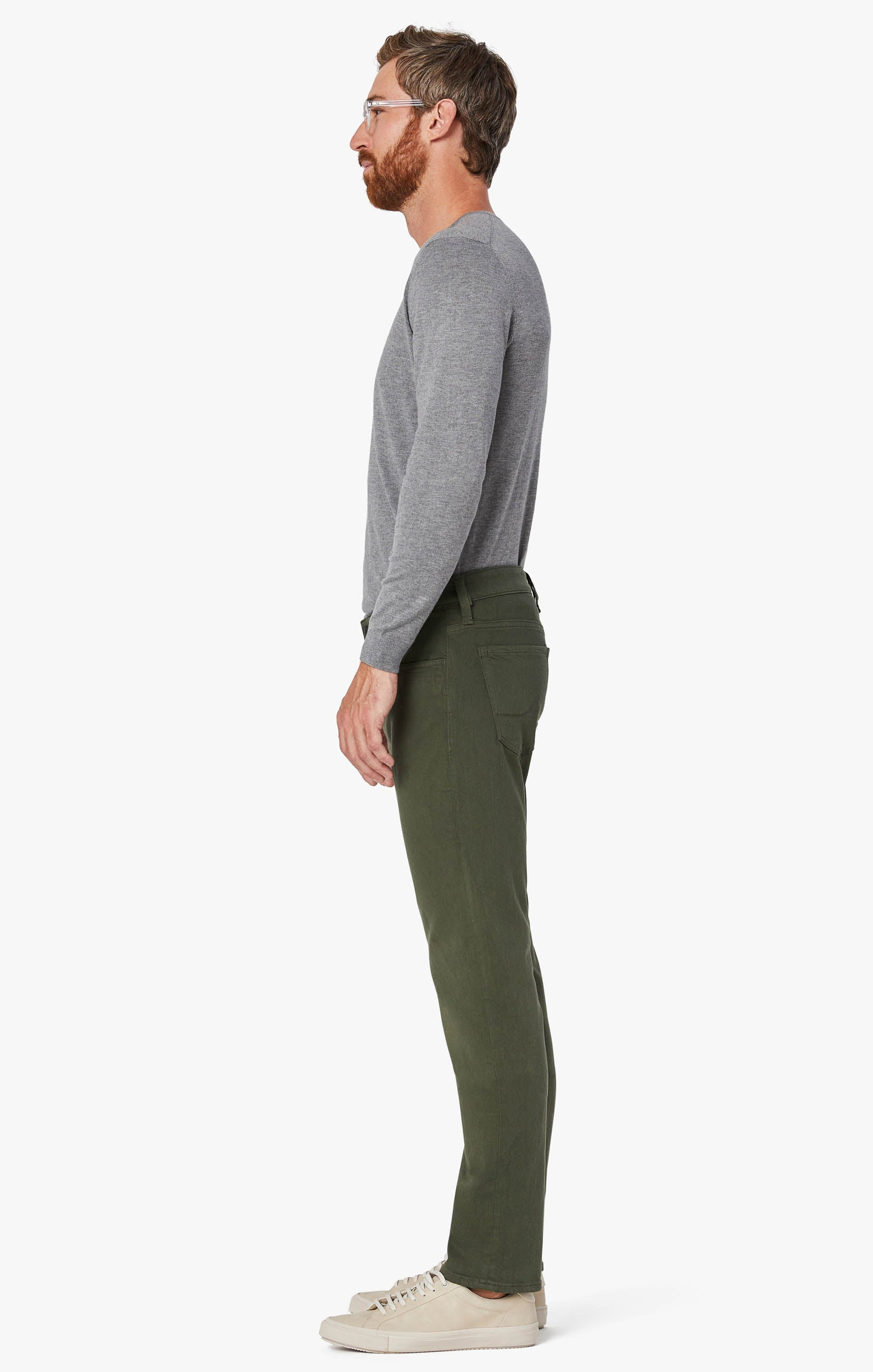 Courage Straight Leg Pants In Military Green Comfort Image 8