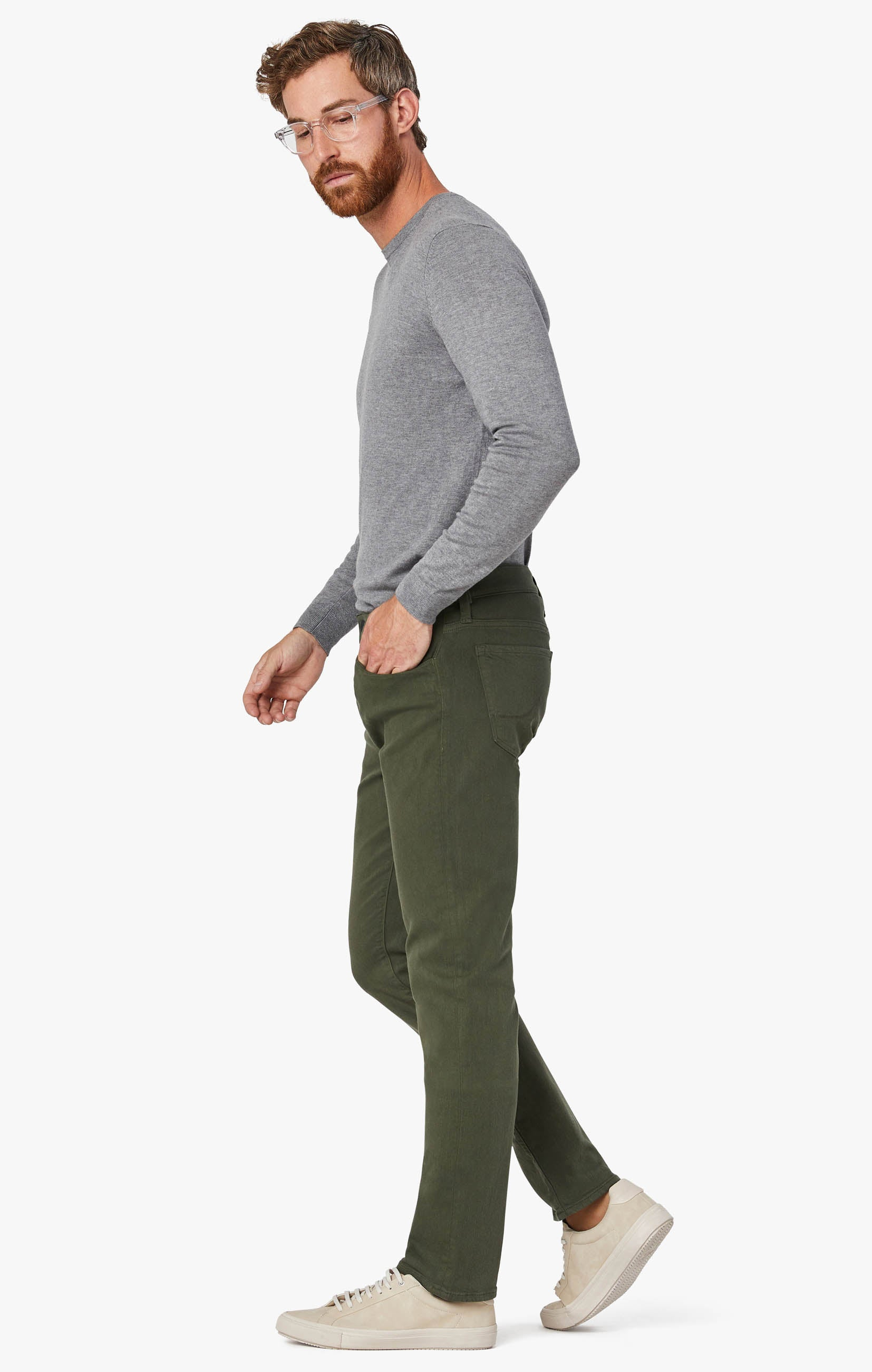 Courage Straight Leg Pants In Military Green Comfort Image 9