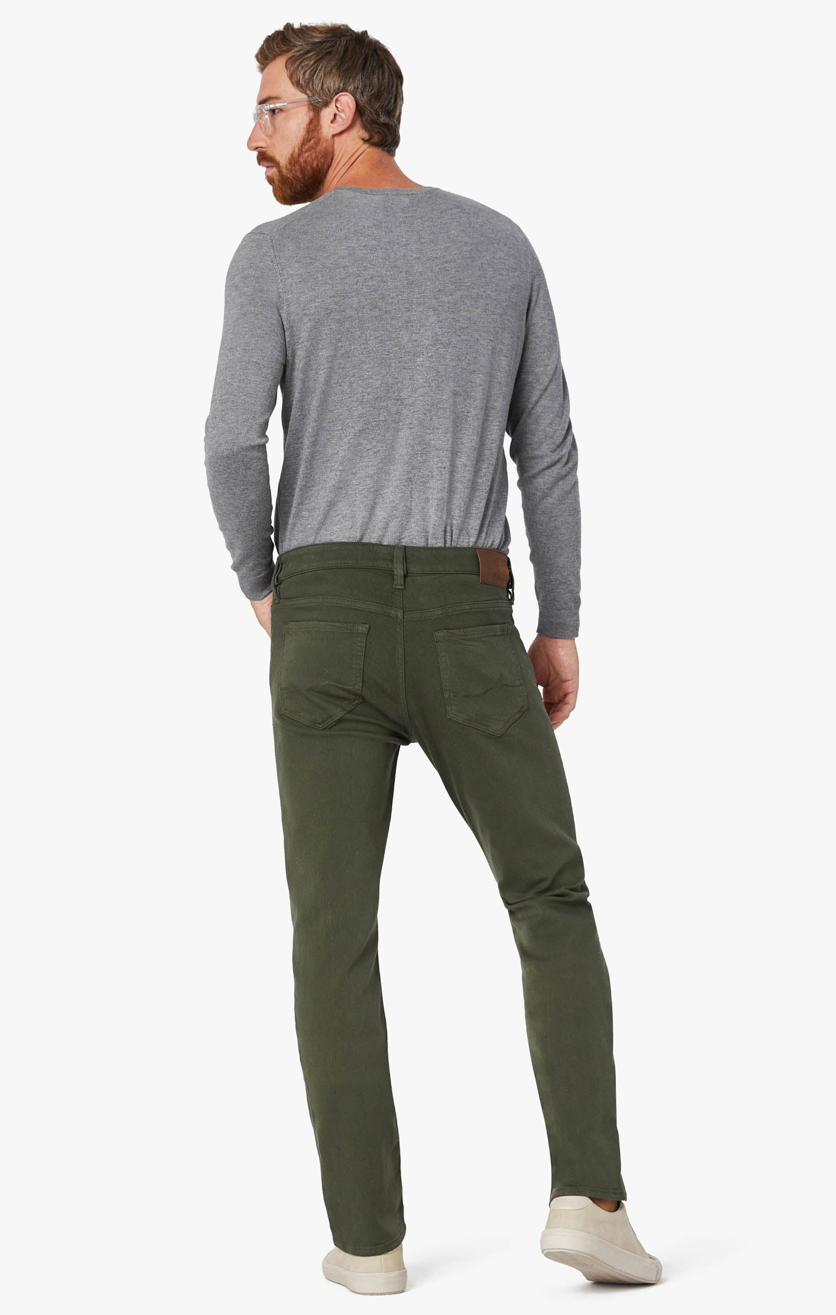 Courage Straight Leg Pants In Military Green Comfort Image 1