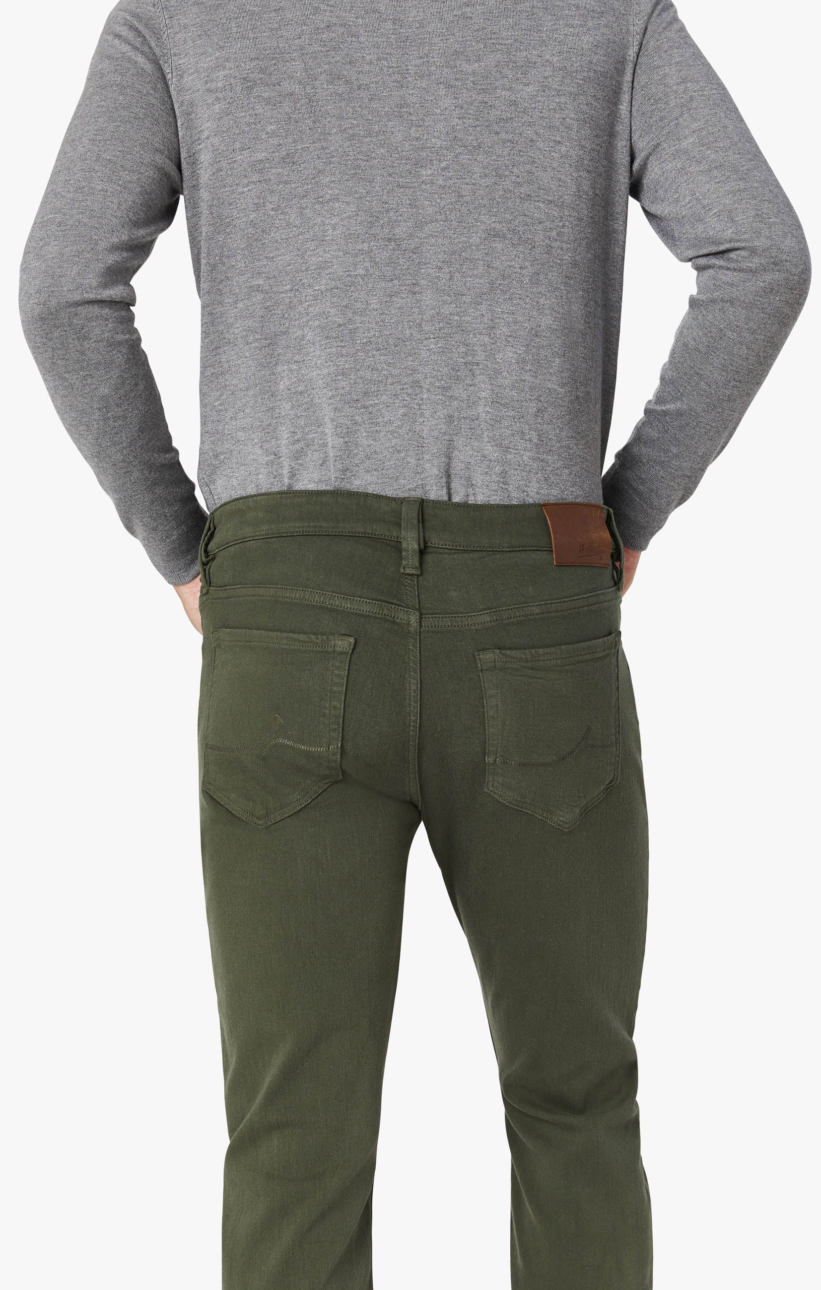 Courage Straight Leg Pants In Military Green Comfort Image 3