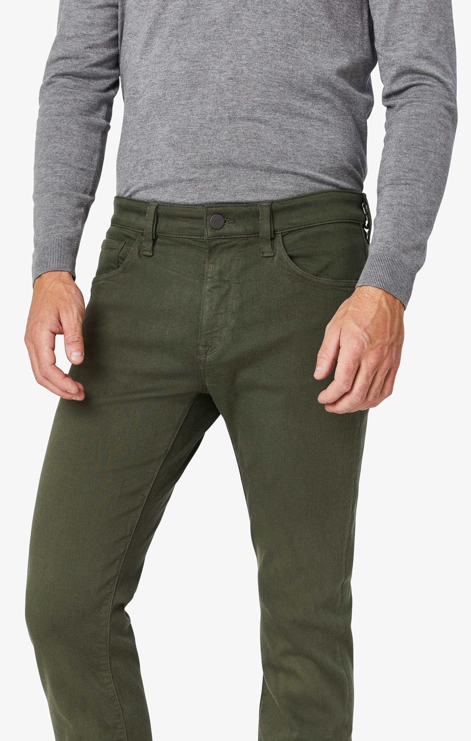 Courage Straight Leg Pants In Military Green Comfort Image 4