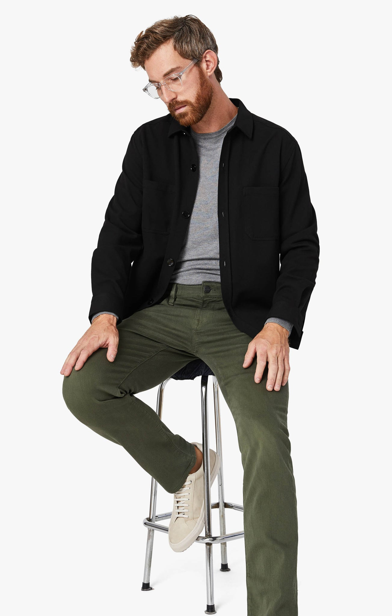 Courage Straight Leg Pants In Military Green Comfort
