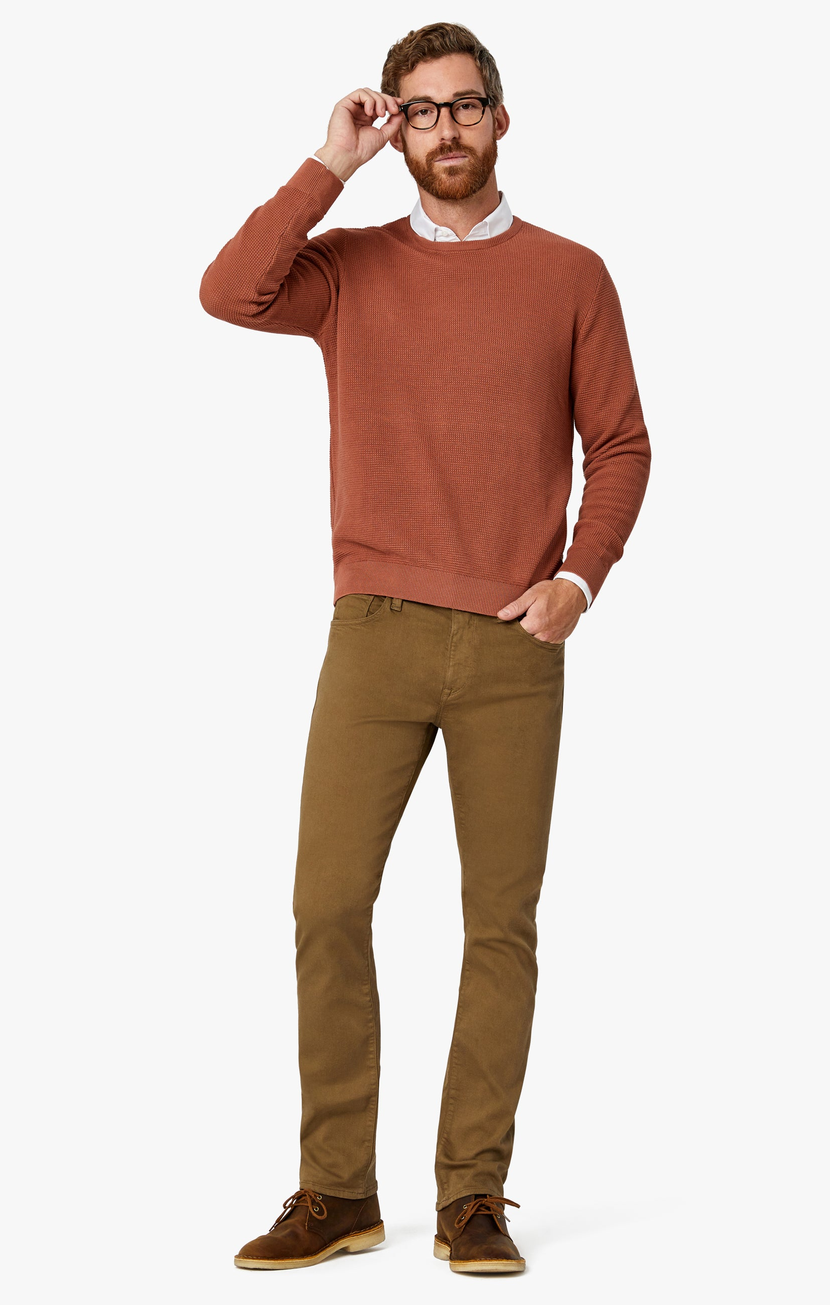 Courage Straight Leg Pants In Tobacco Comfort Image 2