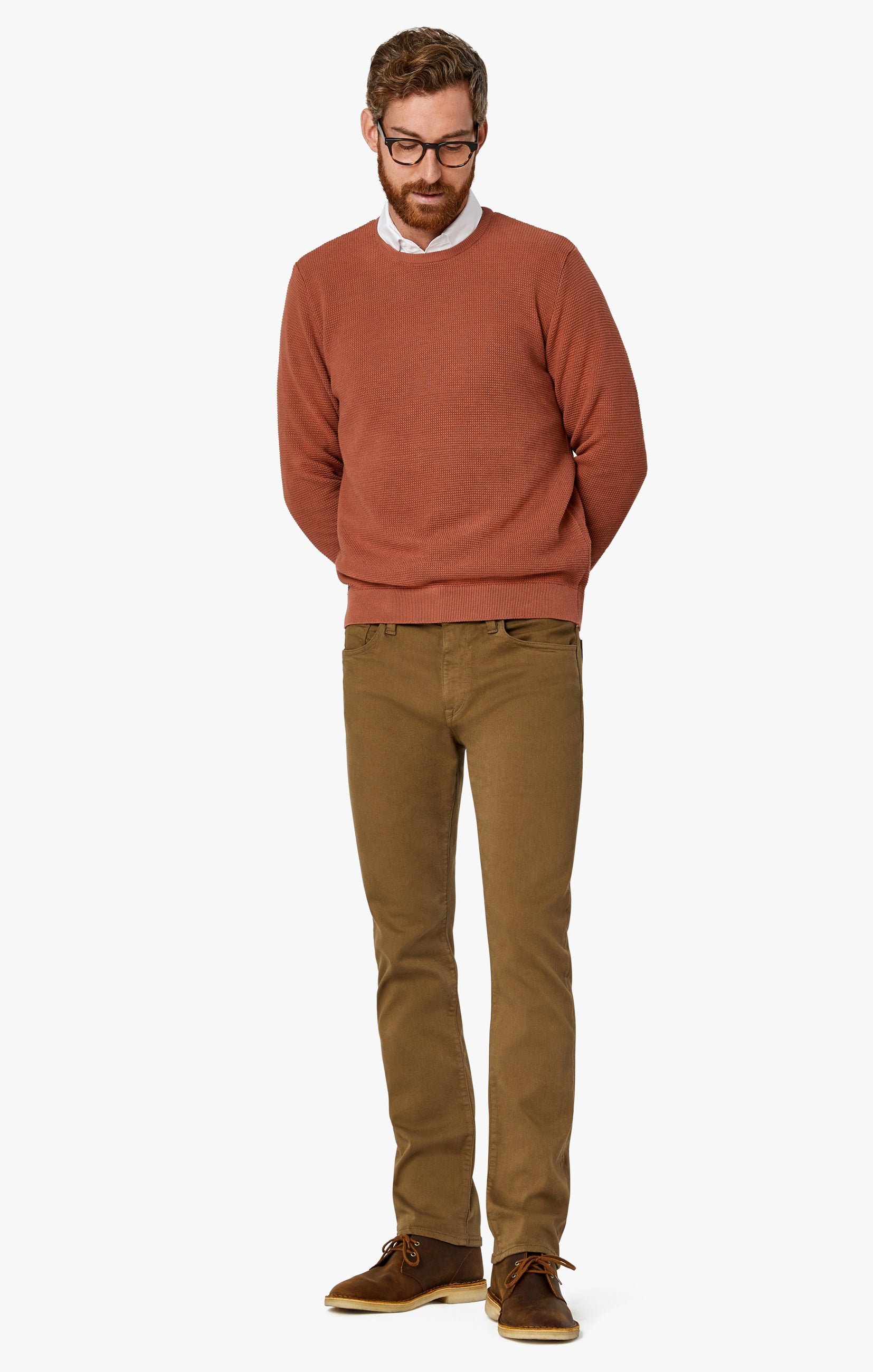 Courage Straight Leg Pants In Tobacco Comfort Image 8