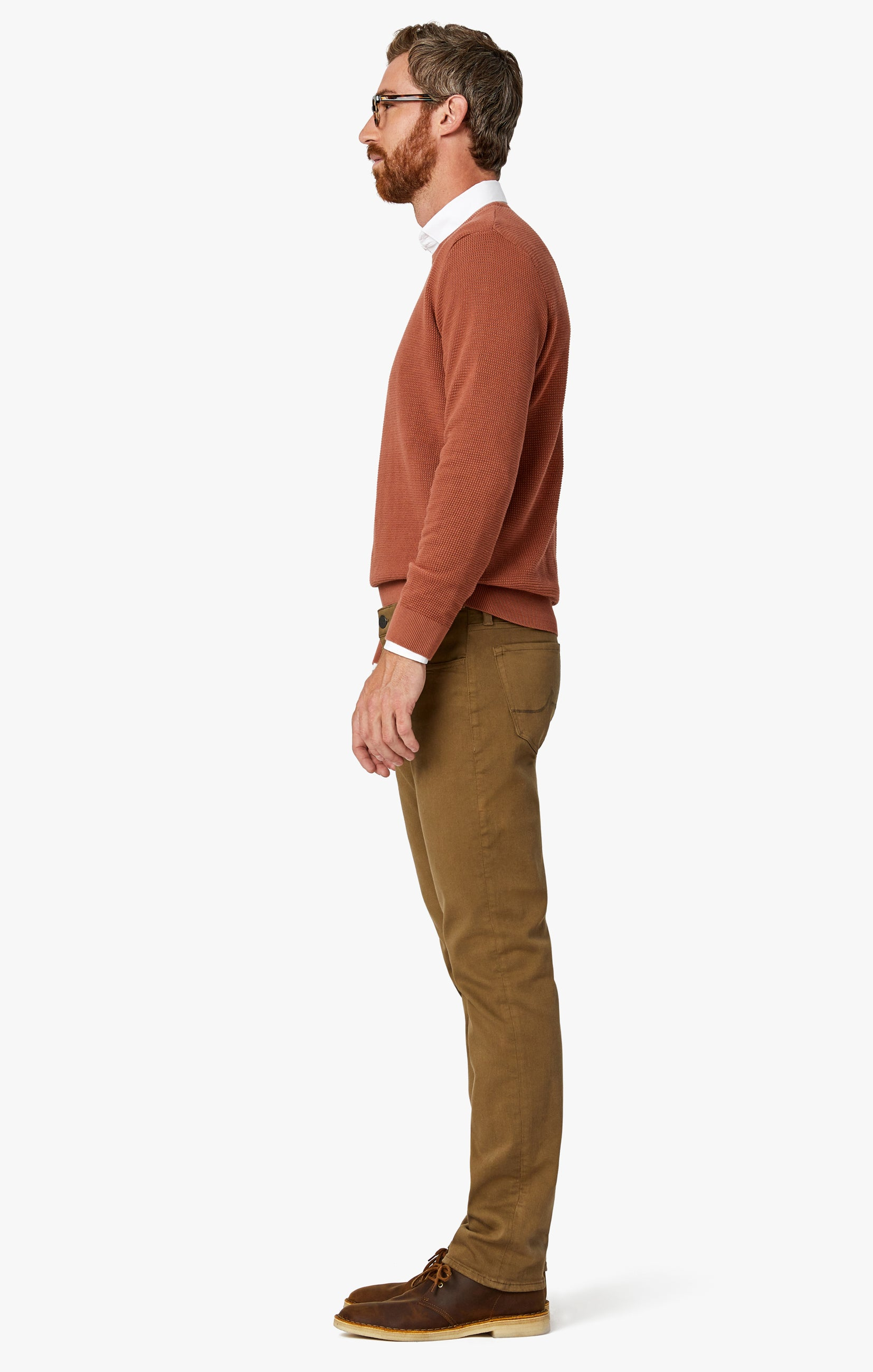 Courage Straight Leg Pants In Tobacco Comfort Image 9