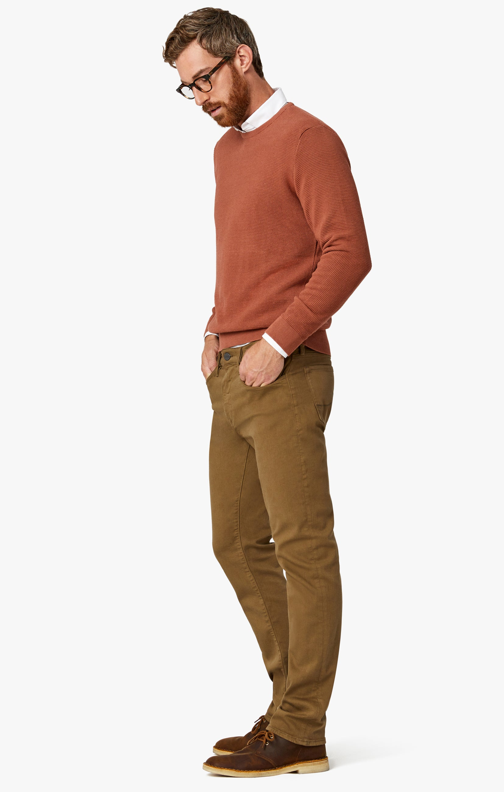 Courage Straight Leg Pants In Tobacco Comfort Image 3