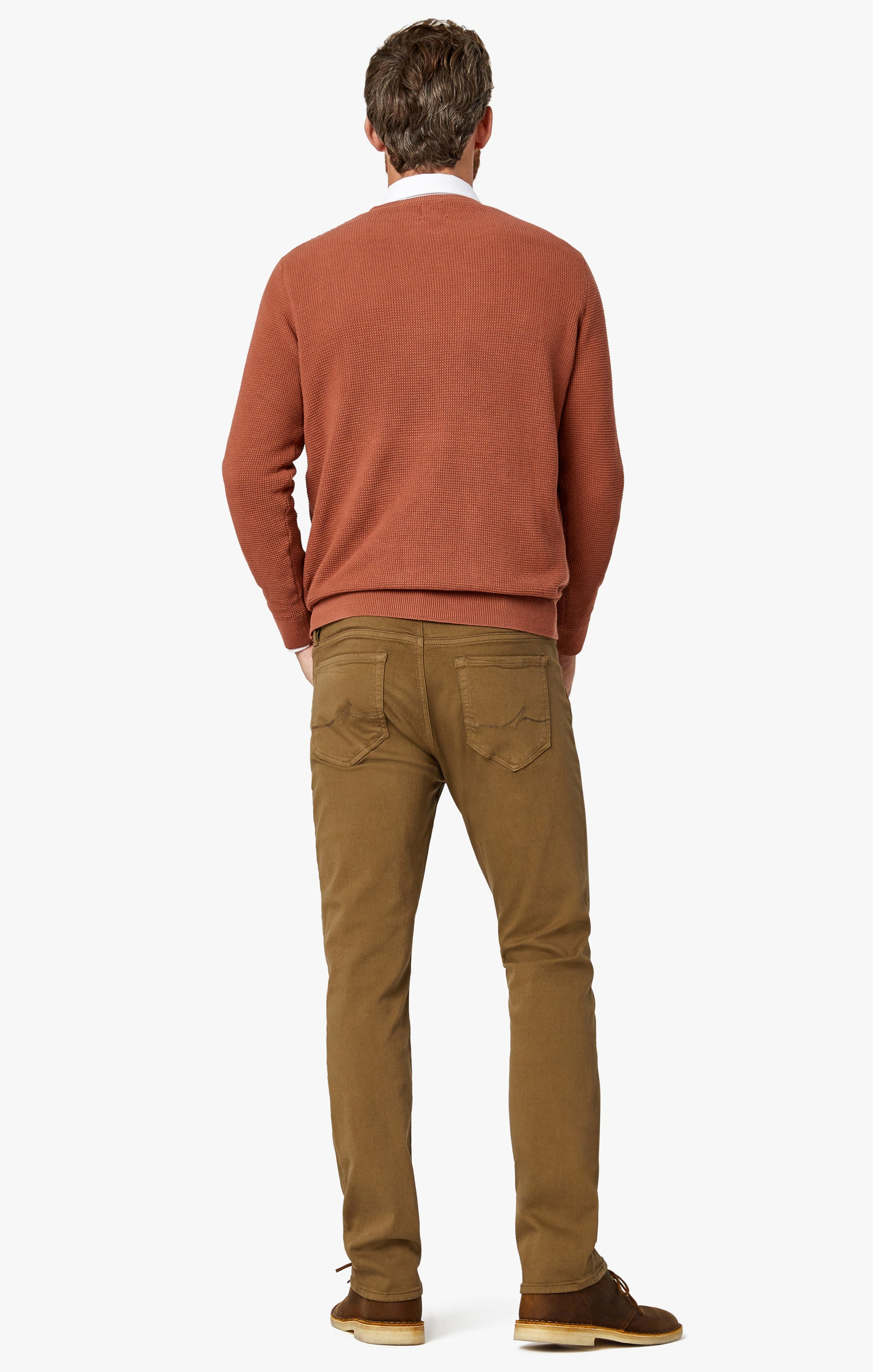Courage Straight Leg Pants In Tobacco Comfort Image 4