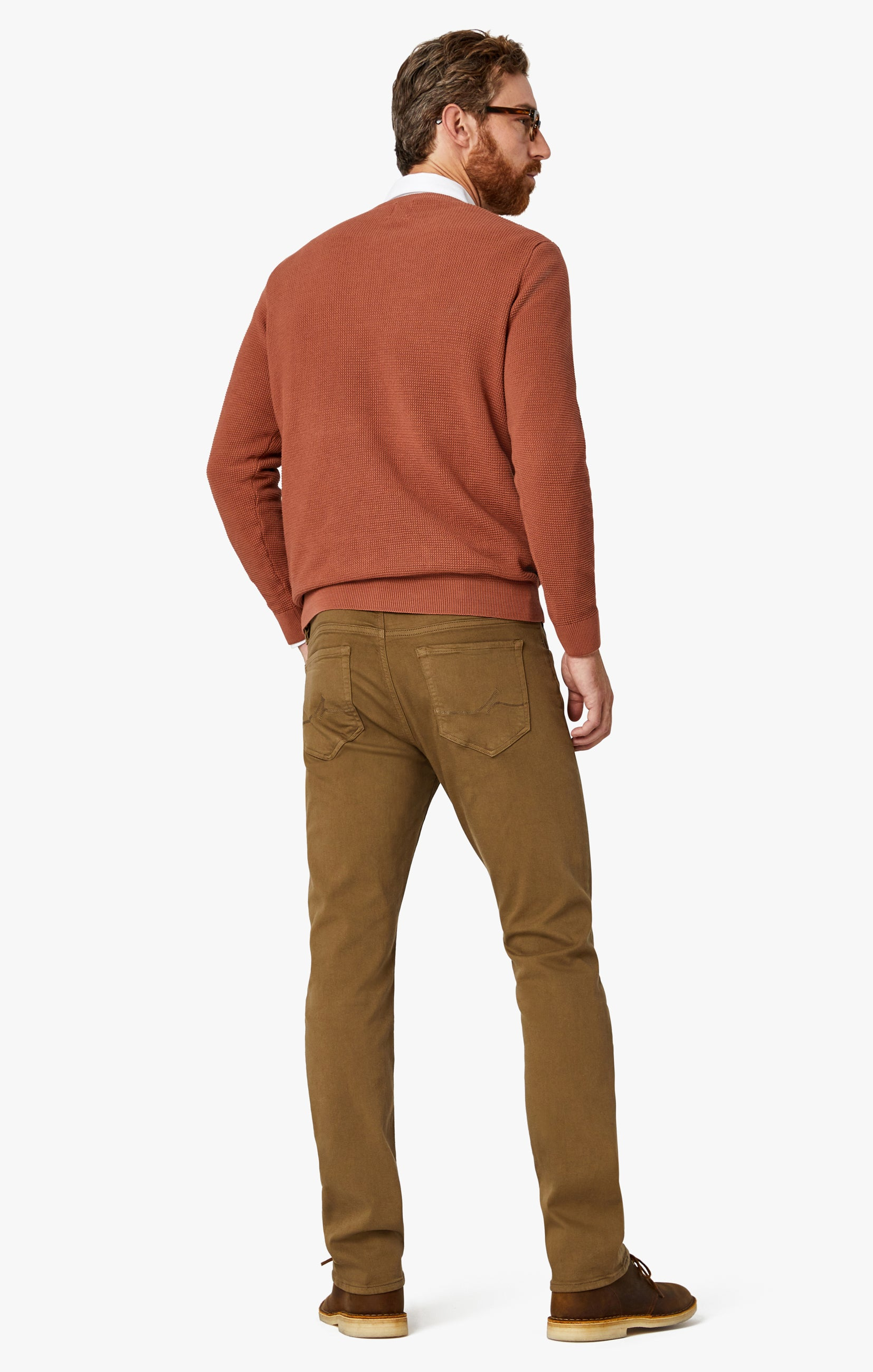 Courage Straight Leg Pants In Tobacco Comfort Image 11
