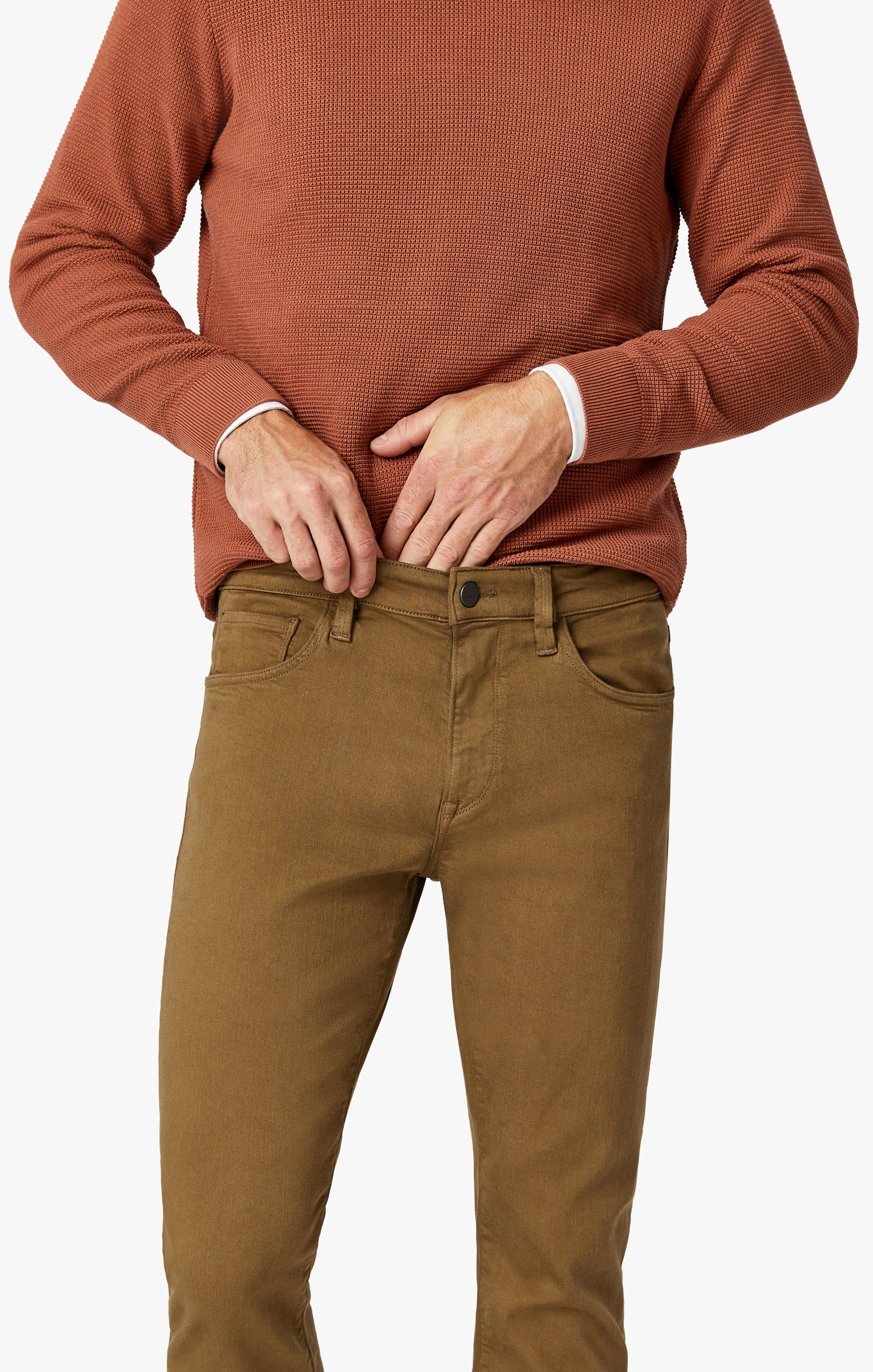 Courage Straight Leg Pants In Tobacco Comfort Image 5