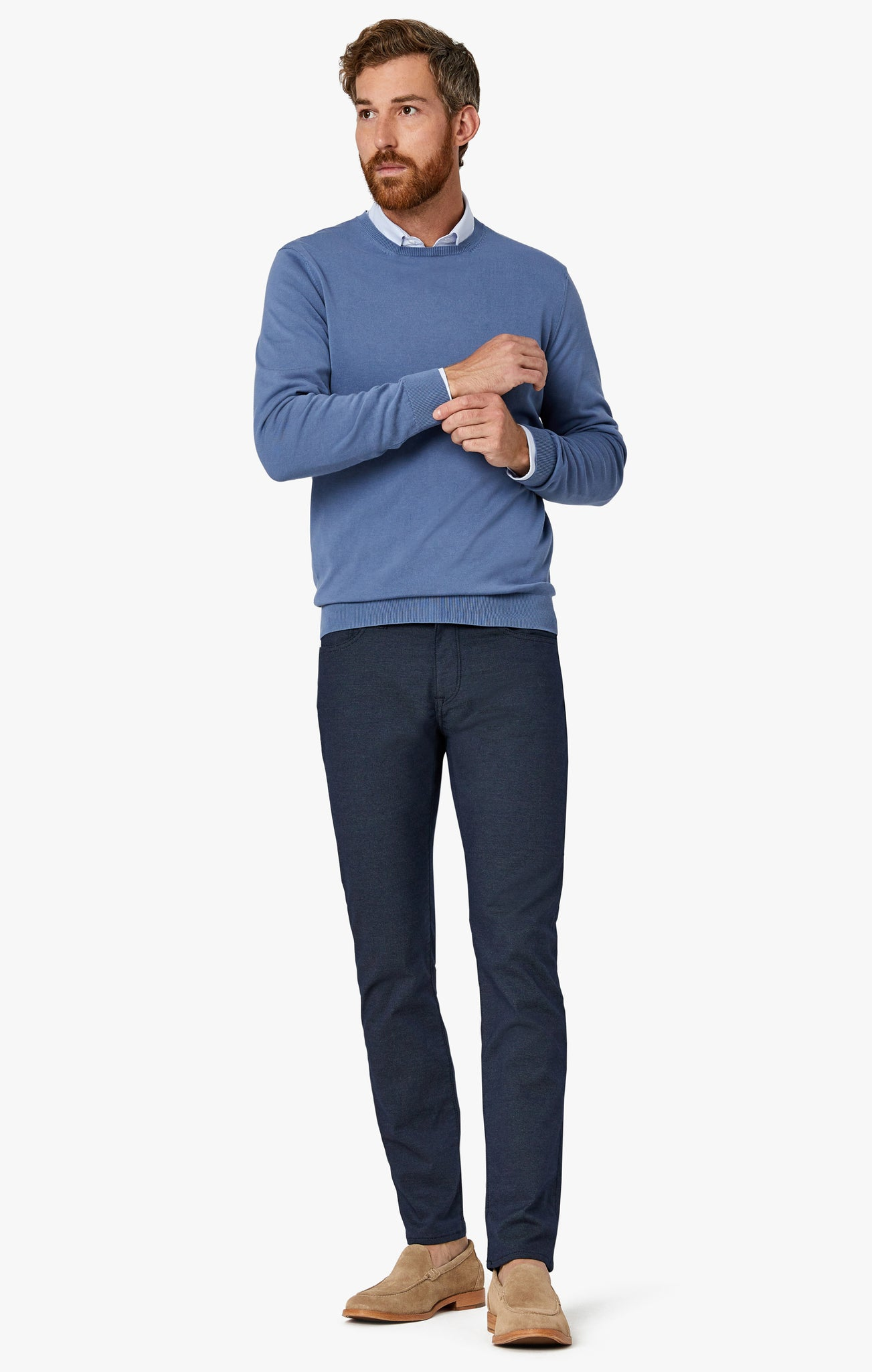 Courage Straight Leg Pants in Navy Coolmax