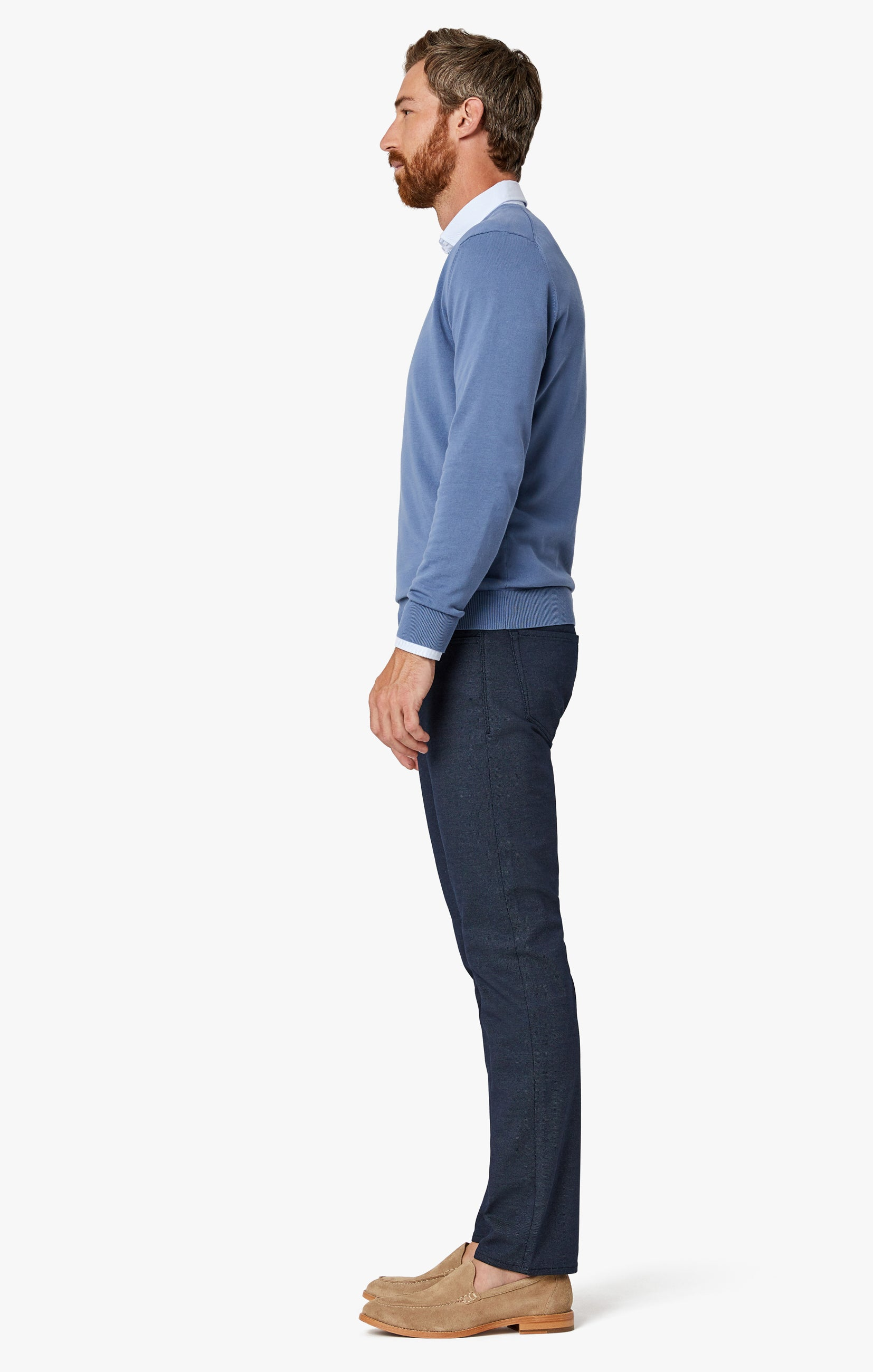 Courage Straight Leg Pants in Navy Coolmax Image 6