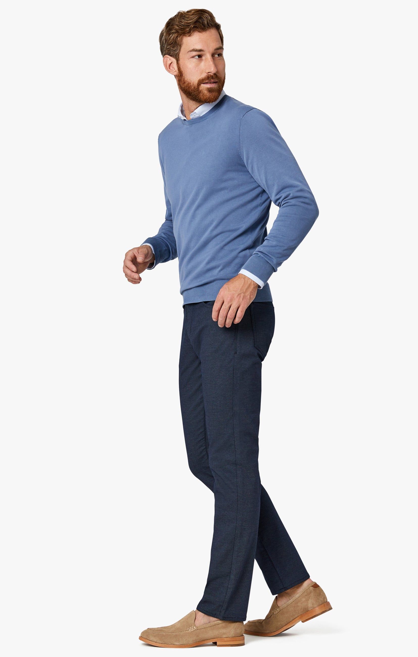 Courage Straight Leg Pants in Navy Coolmax Image 8