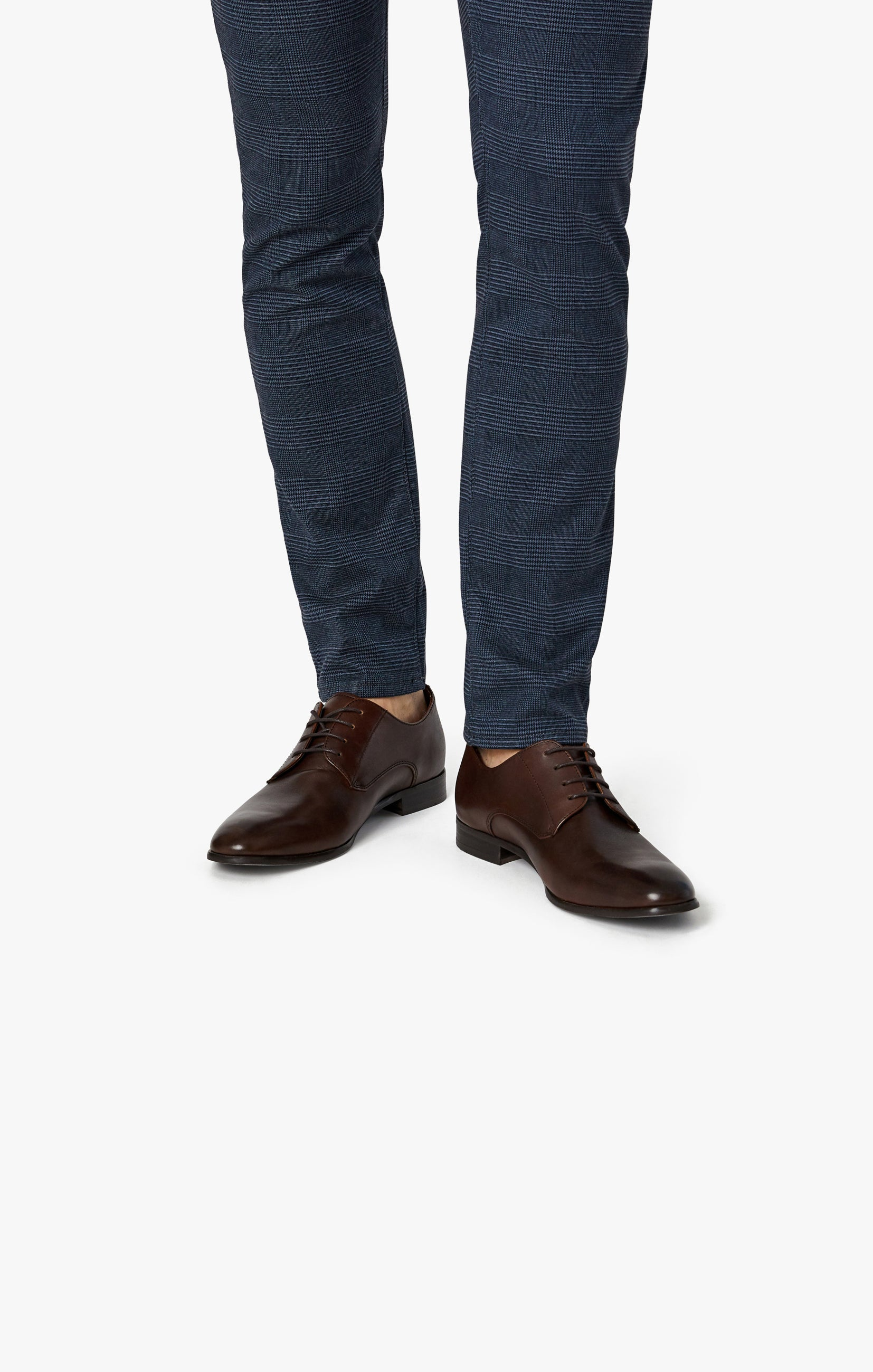 Courage Straight Leg Pants in Navy Checked Image 6