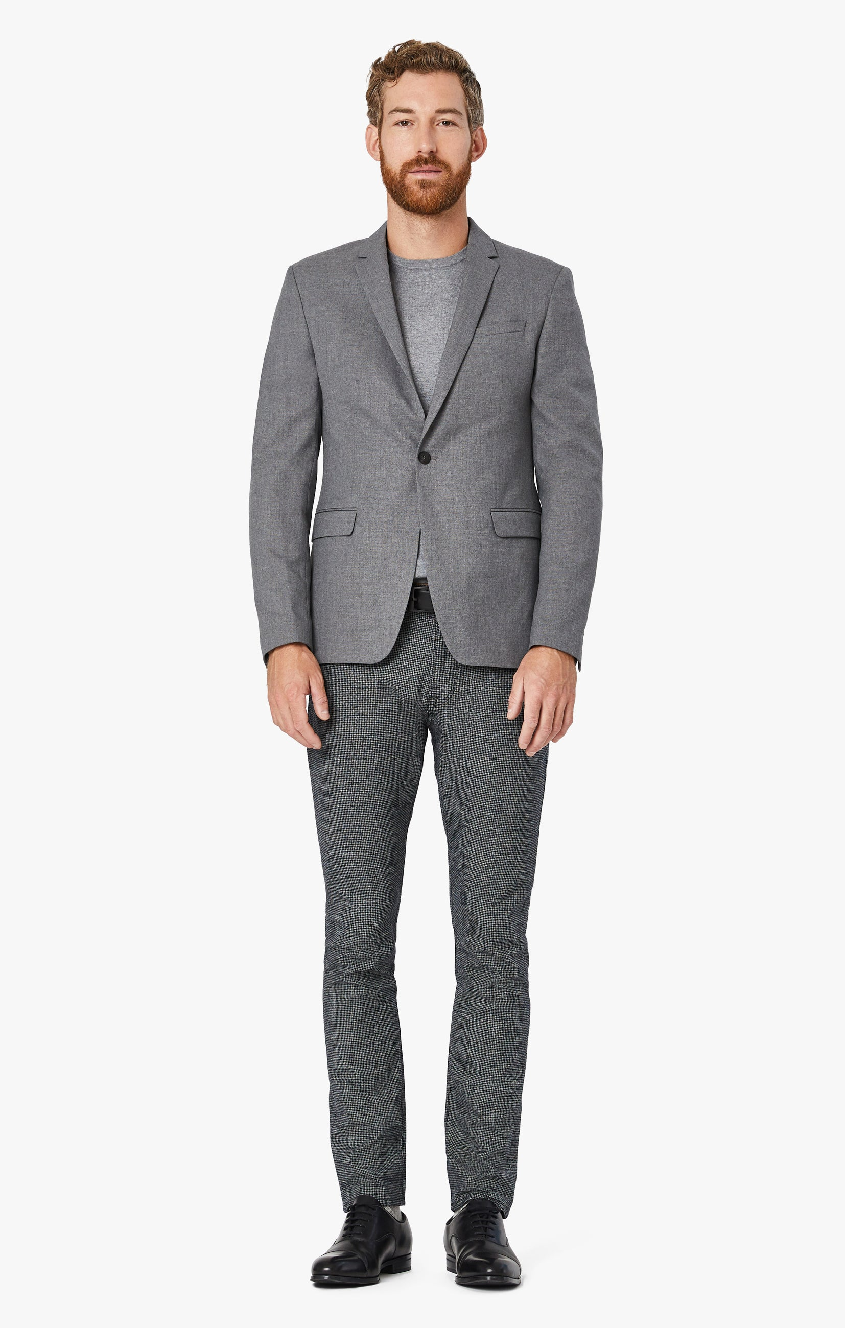 Courage Straight Leg Pants In Grey Houndstooth Image 4