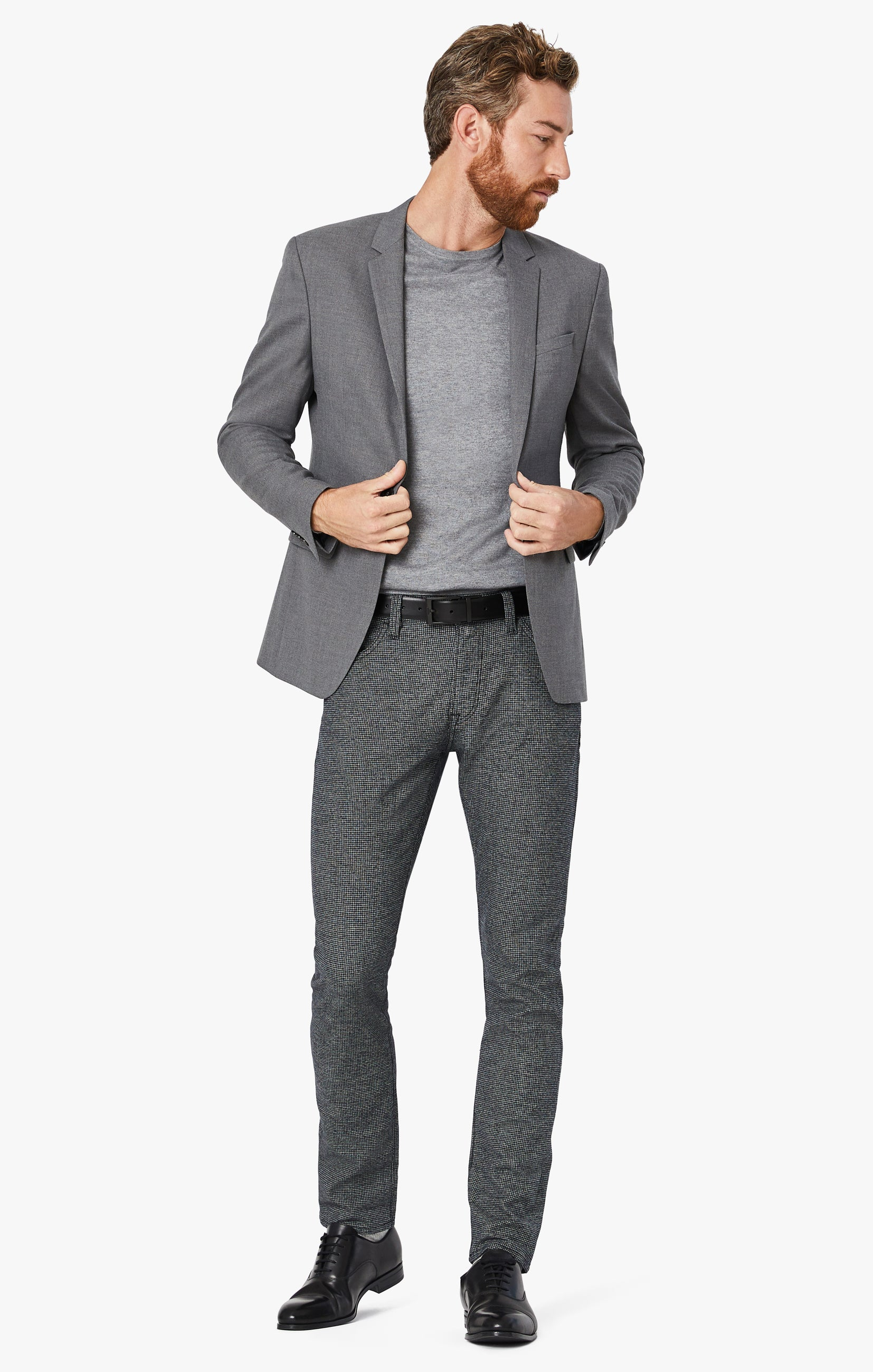 Courage Straight Leg Pants In Grey Houndstooth Image 7